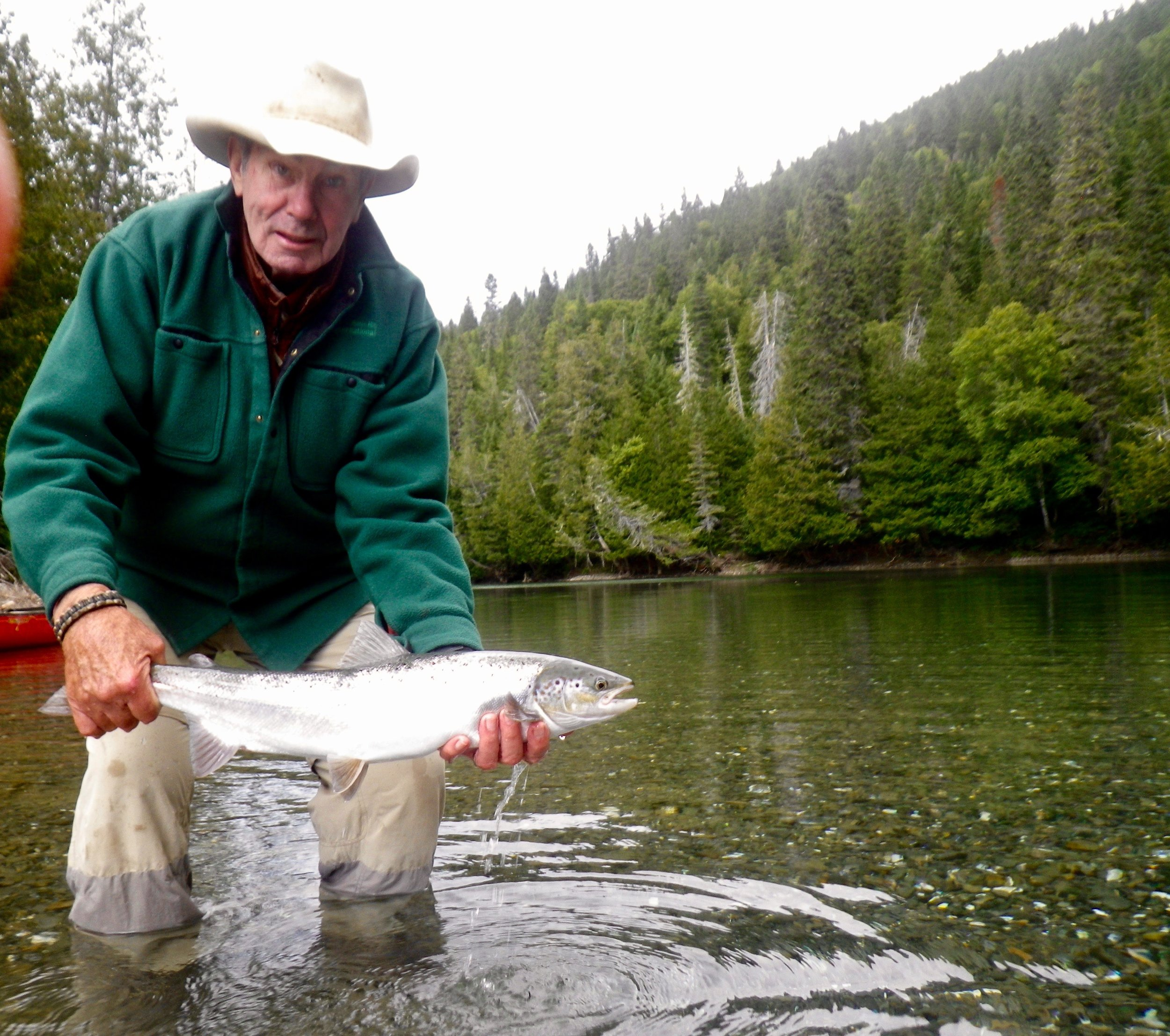 This was John McGonagle's first trip to Camp Bonaventure, but not his last, see you next year John! Nice salmon!