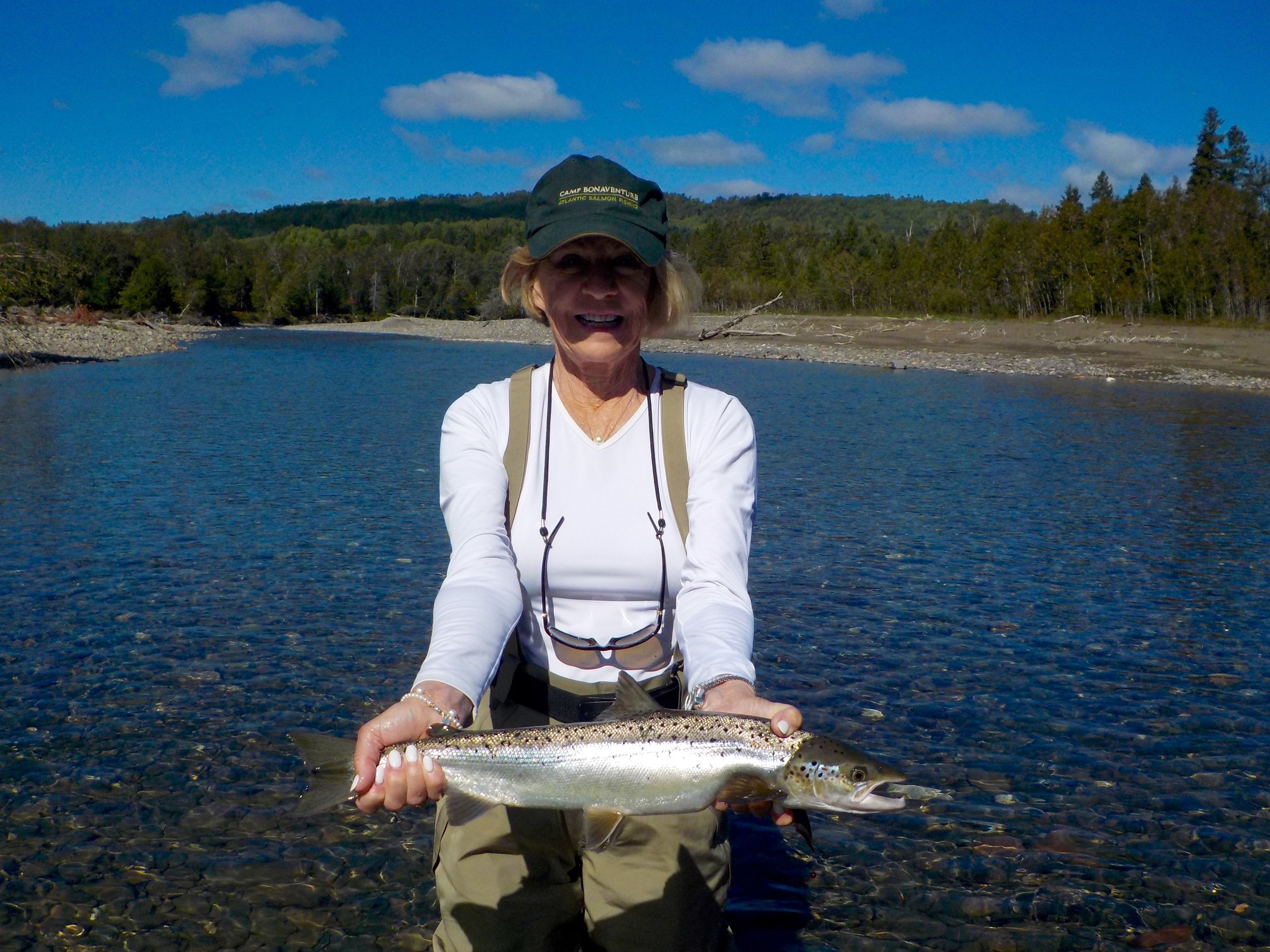 Sharon Dombrowski is a regular September visitor to the lodge, she's a great lady and angler, well done Sharon, see you next year!