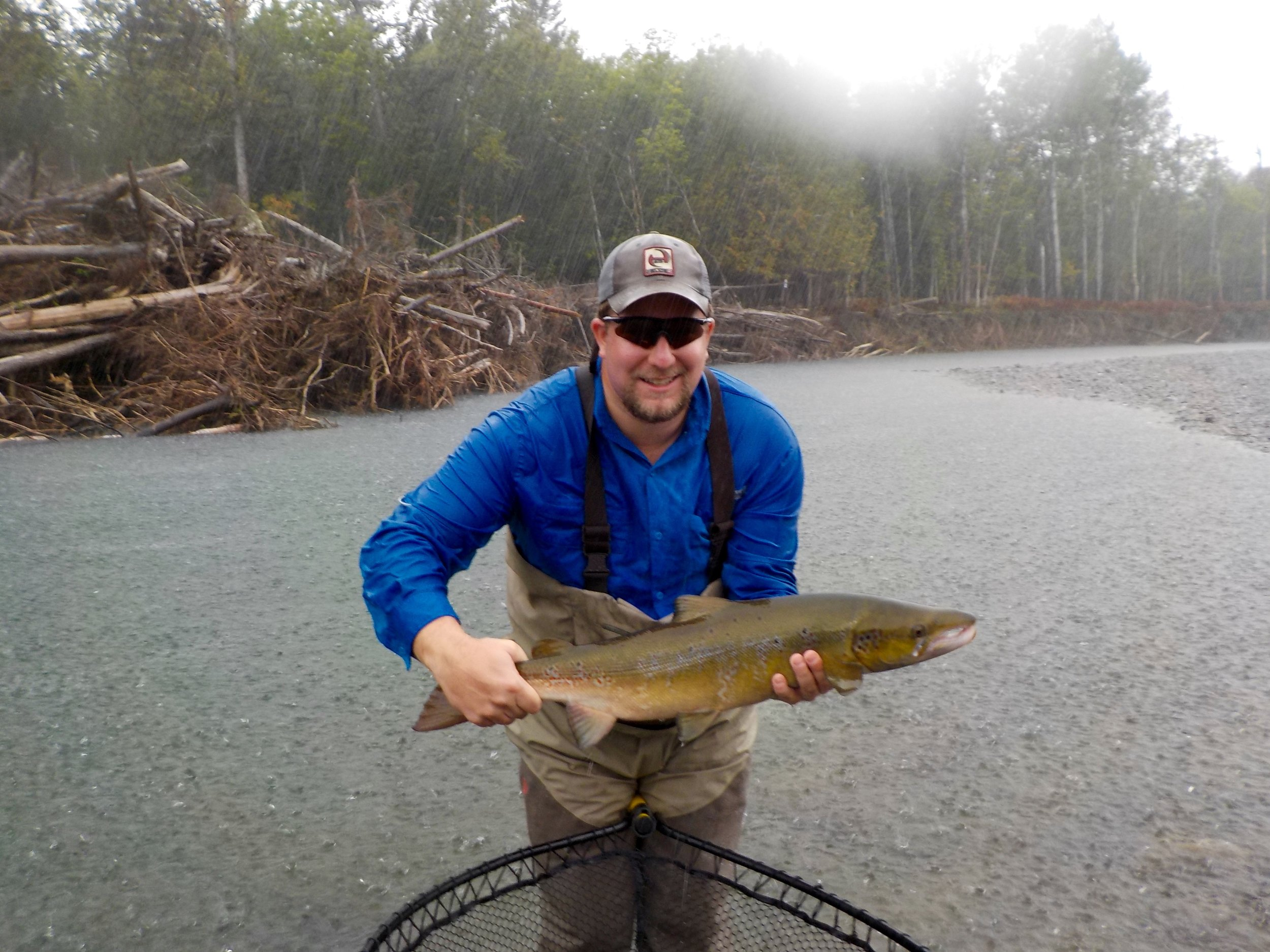 Chet Warner with his first Atlantic Salmon, Congratulations Chet! may it be the first of many more to come.