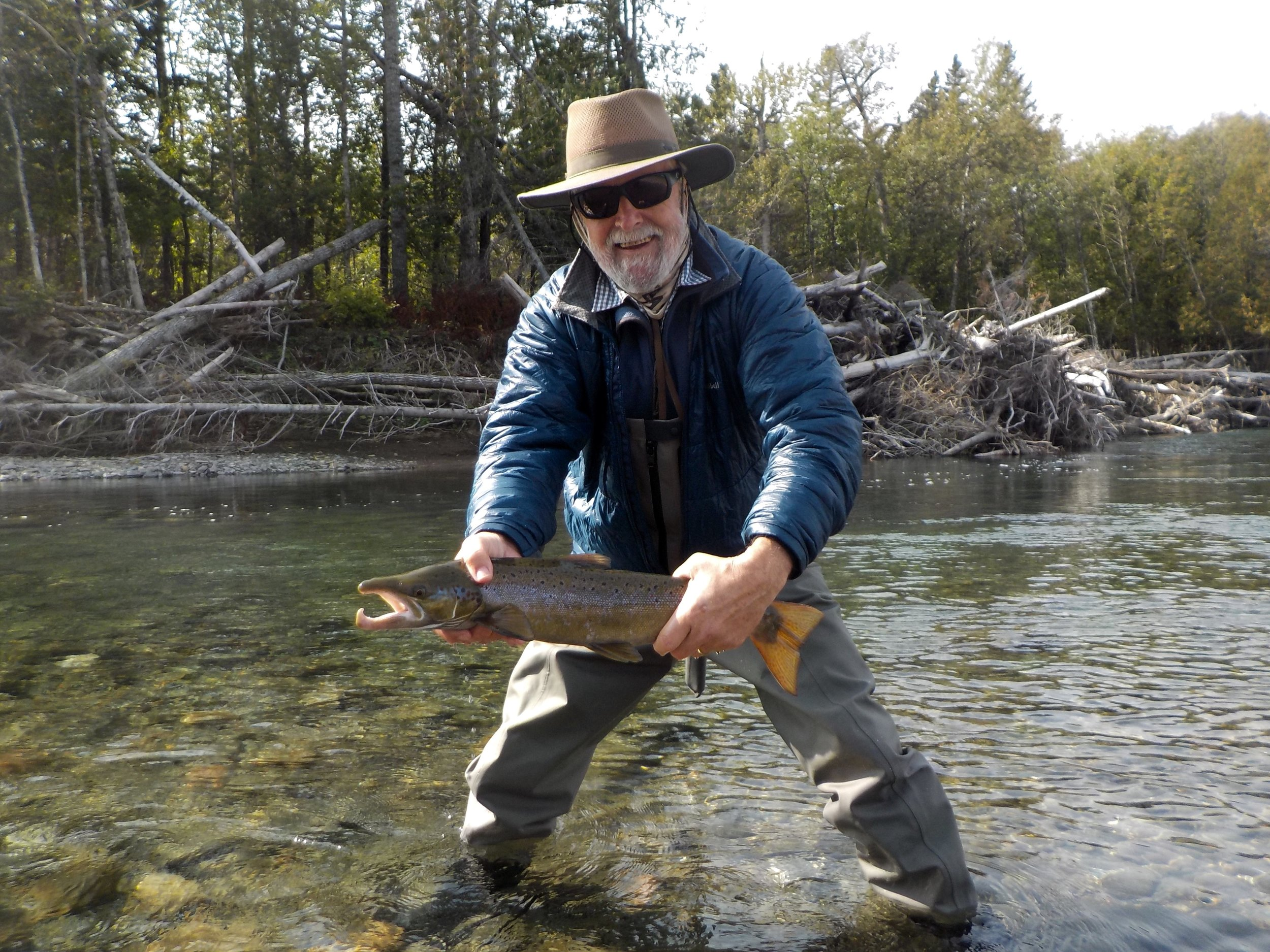 Jim Fowler with his first salmon of the season, nice one Jim!