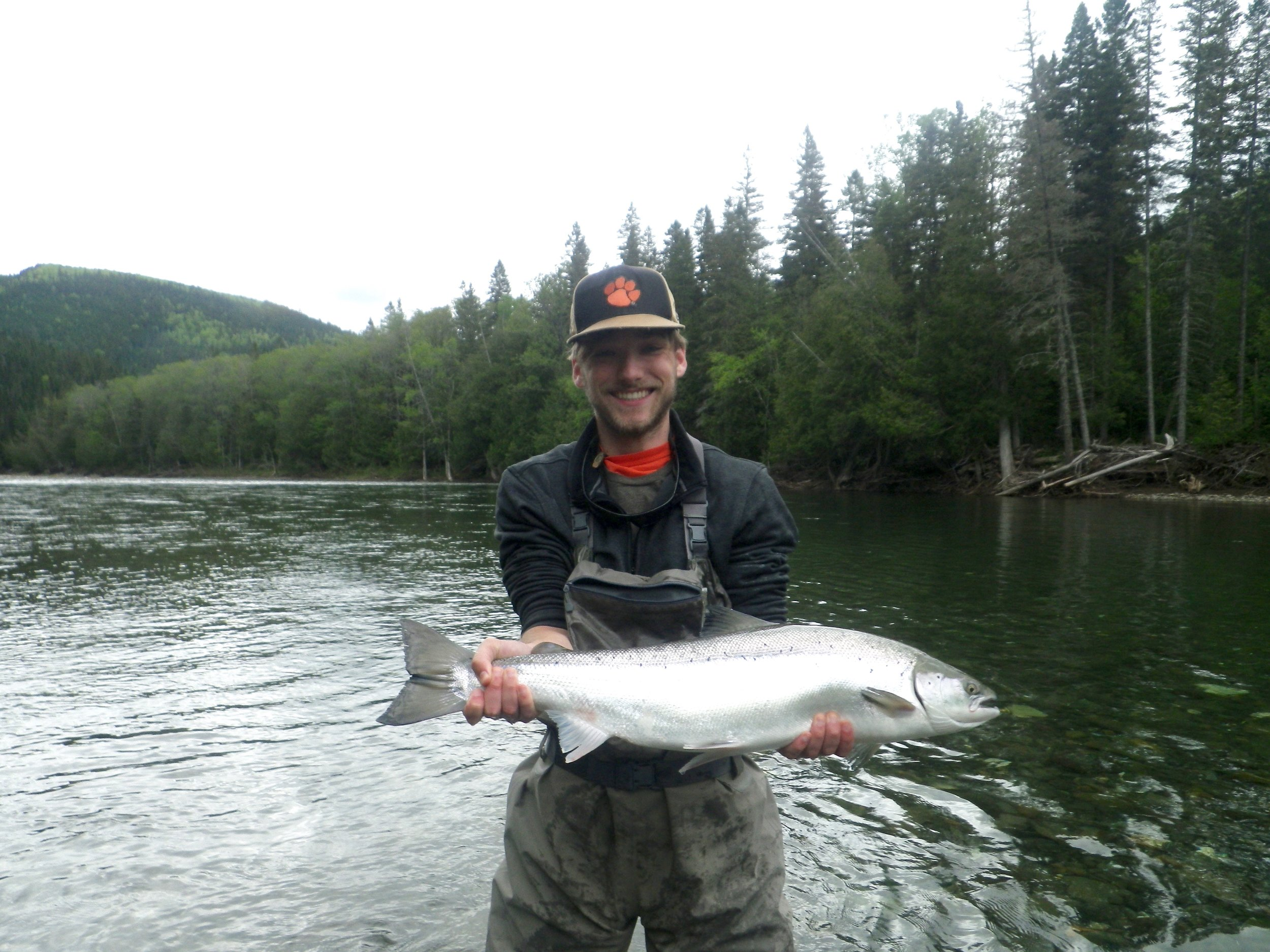 Ward Sprouse fromSouth Carolina with his first Atlantic salmon, congratulations Ward, may this be the first of many!