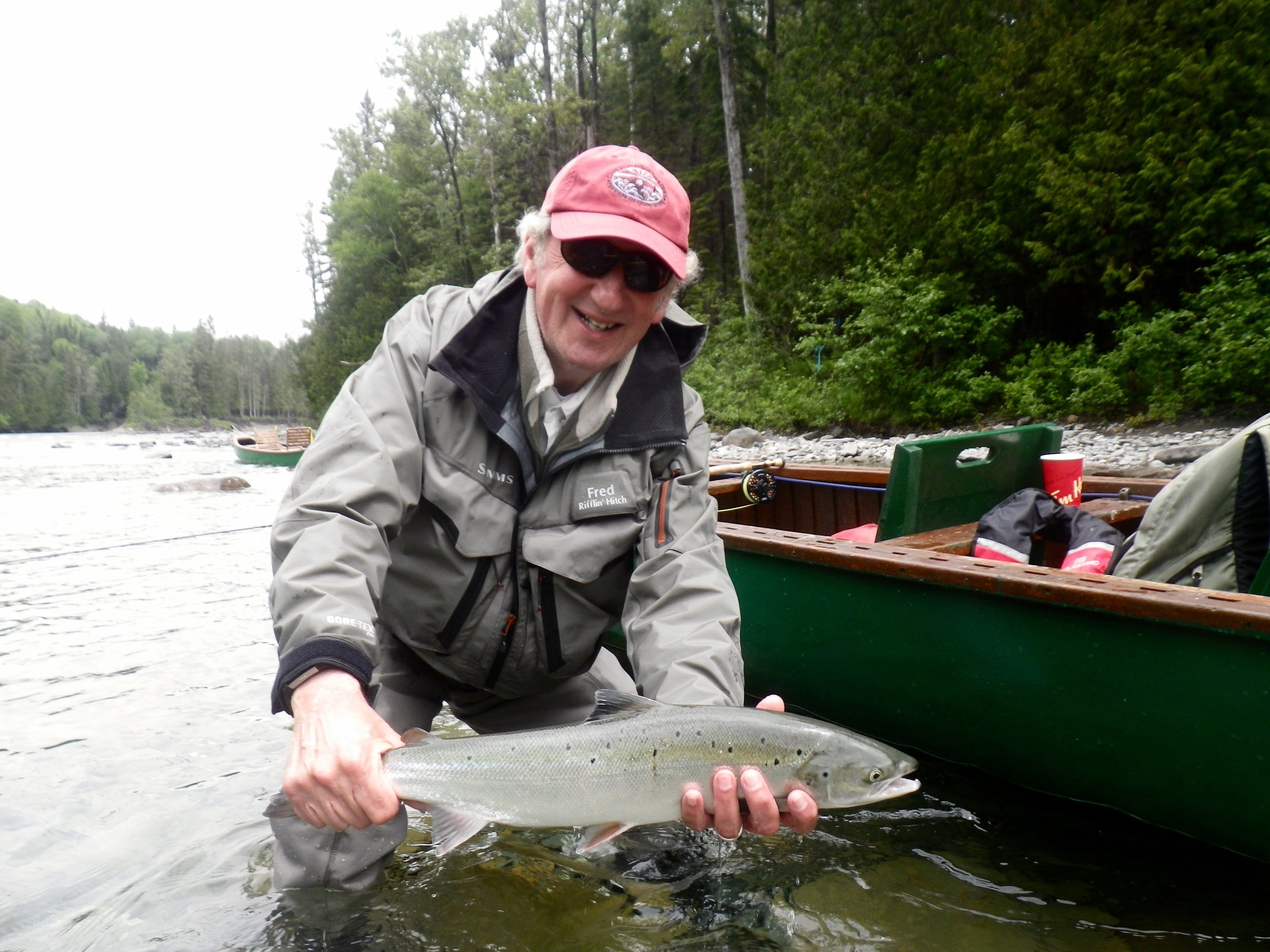 Fred Fountain with a nice grilse to break the ice, congratulations Fred, see you in next year.
