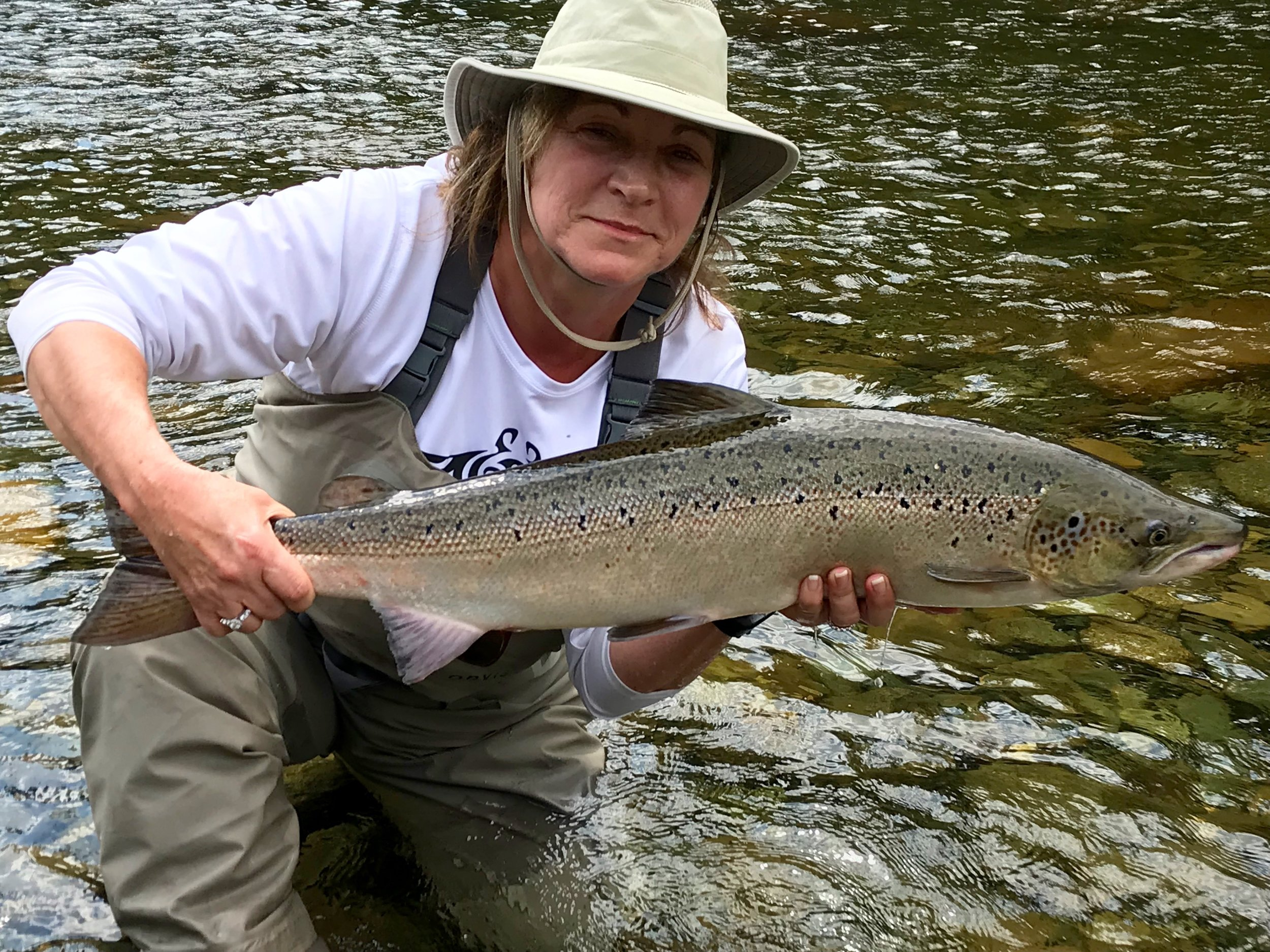 Diane Ranno with a nice one from the Grand Cascapedia, congratulations Diane!