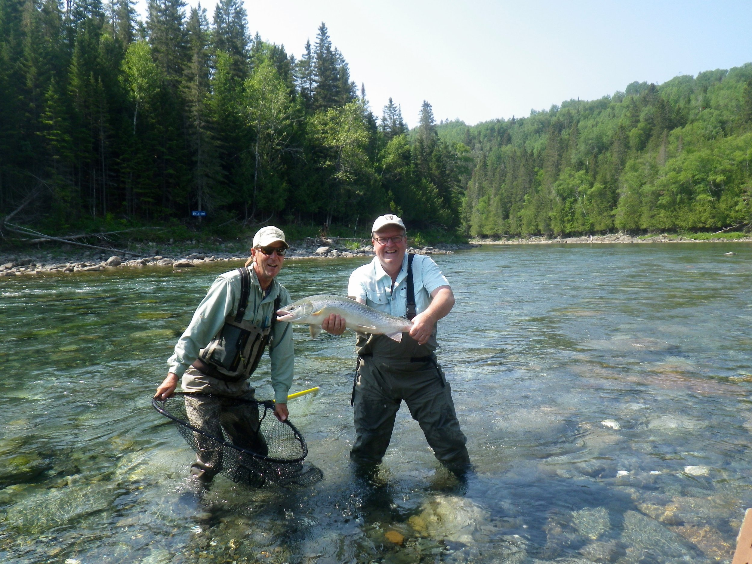 Joel Bélanger (right) and our master Guide Marc Poirier get it done on the Bonaventure. Well done Joel.