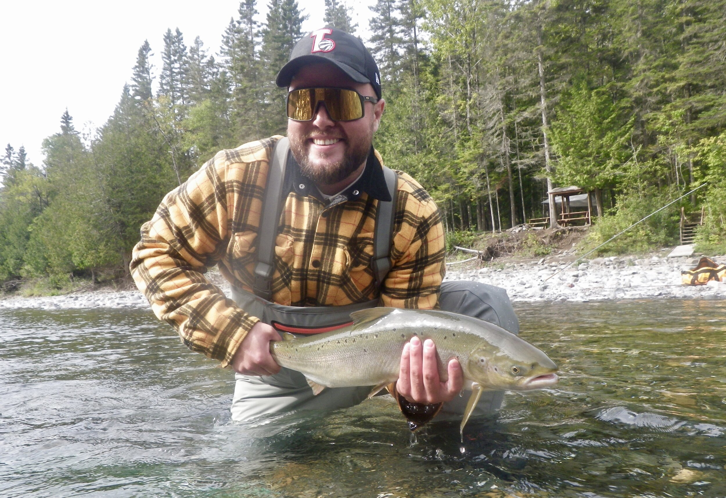 Julian Charbonneau landed this great salmon on the Bonaventure River earlier this week! Amazing Job Julian!