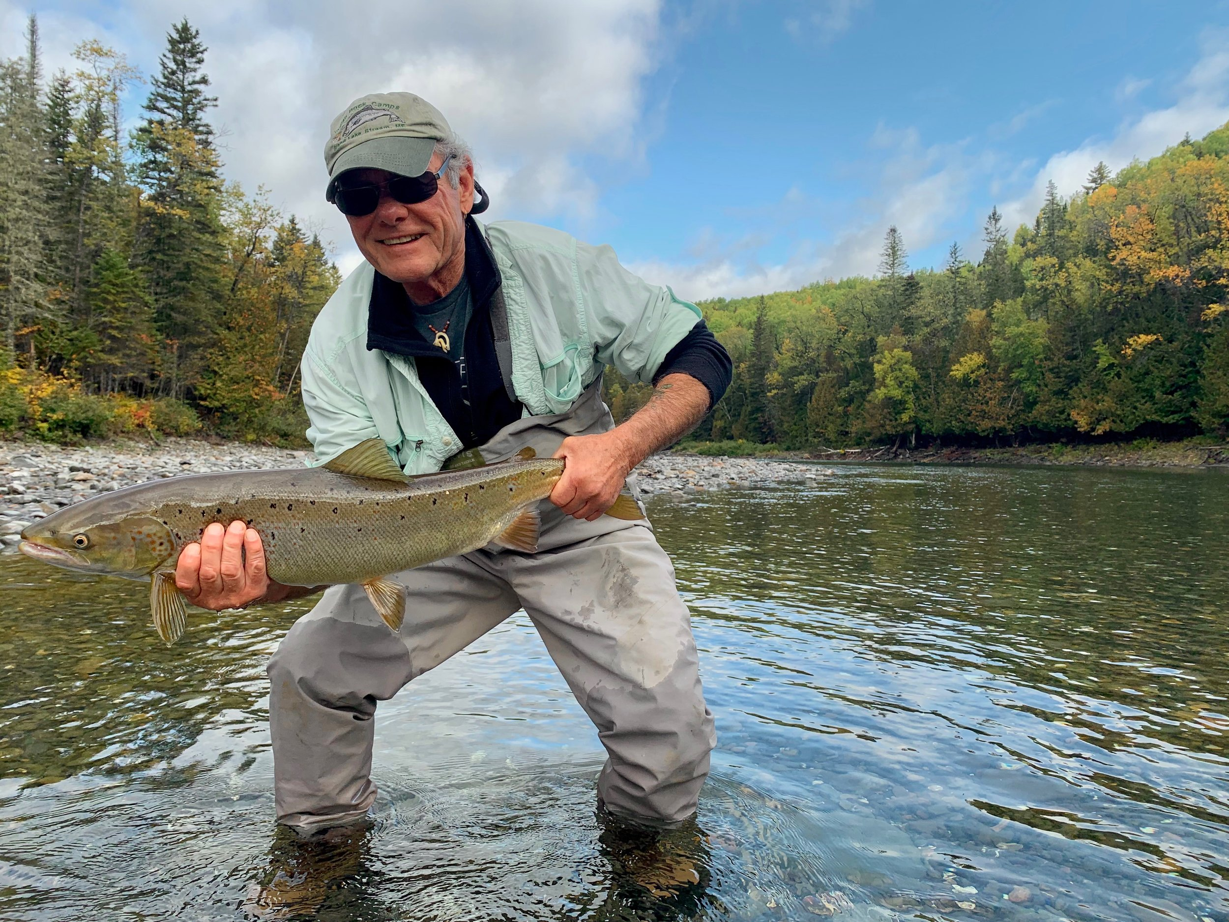 Our dear friend Joe Kievitt landed this beauty on the Bonaventure River! Congrats Joe!