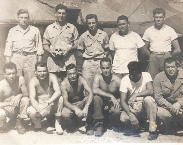 Private Robert Comins and his fellow soldiers, WW2