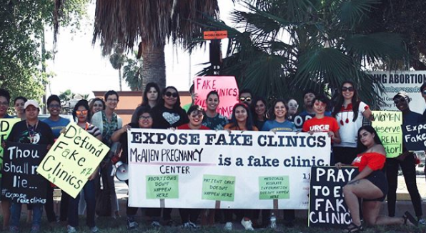 Members of the  University of Texas Rio Grande Valley chapter of URGE  don't mess around. They've even been organizing with a petition to their governor to defund CPCs. Heck yes.