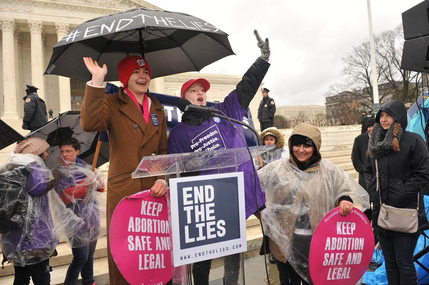 Carleton students Maggie and Carolyn shared their success story on the steps of the Supreme Court in March at the Rally to #EndTheLies