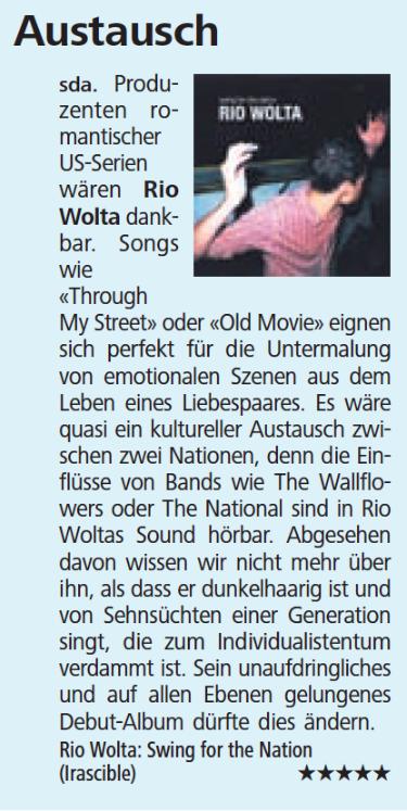 Neue Luzerner Zeitung, 1.10.2015