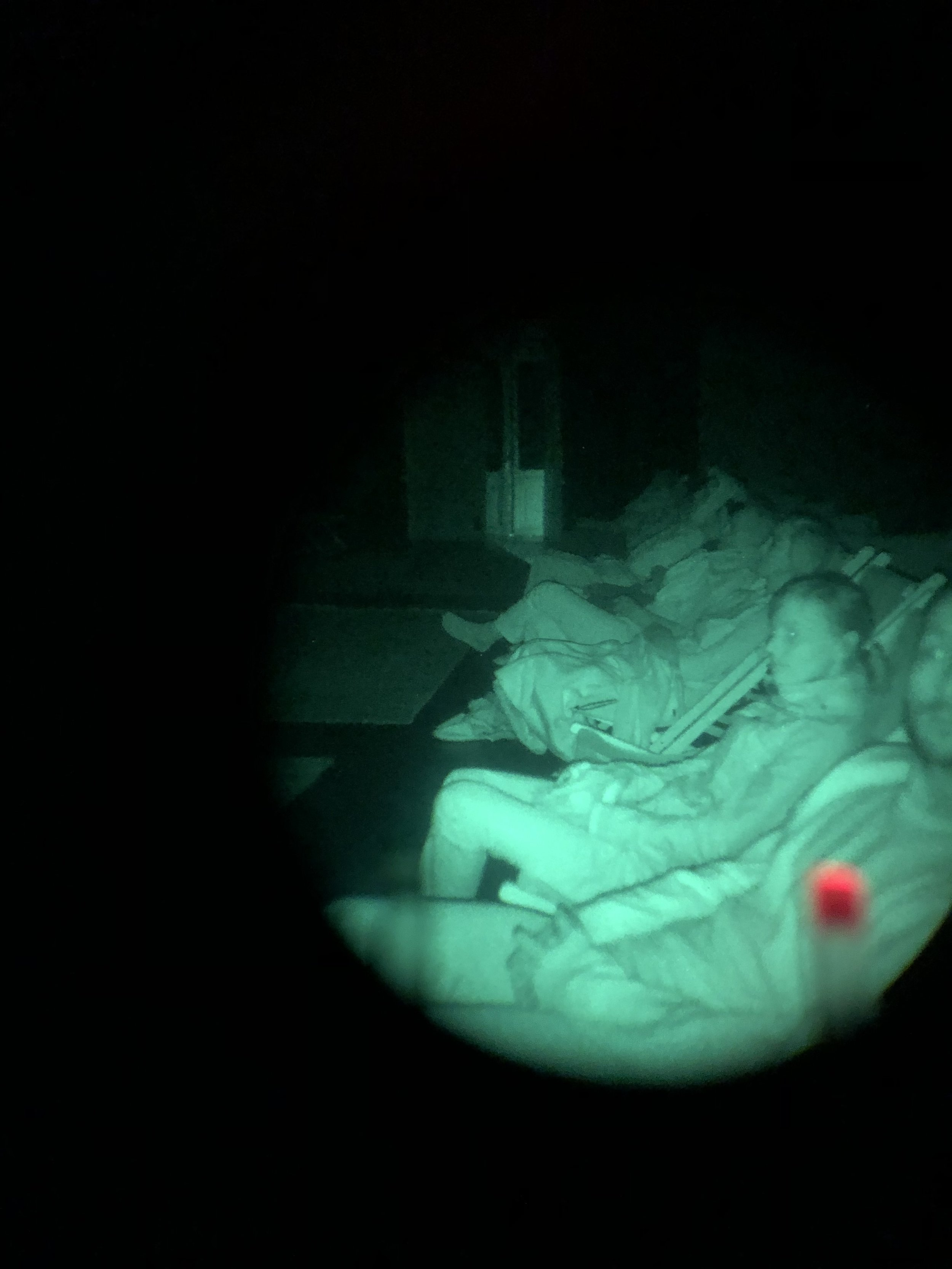 Photo taken with a night sight