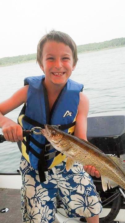 Josiah's first walleye of 2014