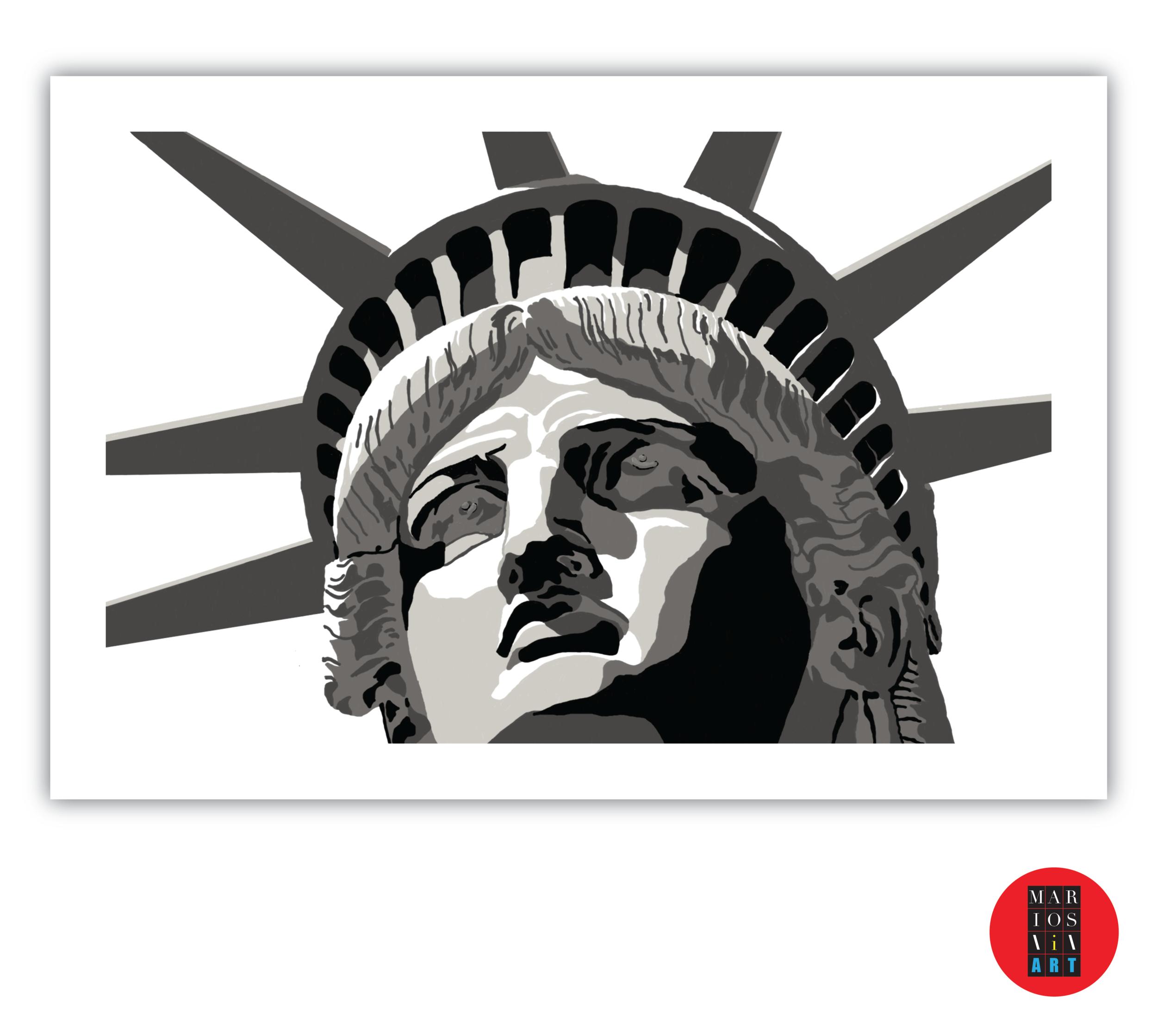Artwork by Mario Saverino/MarioSiART  Title: Miss Liberty