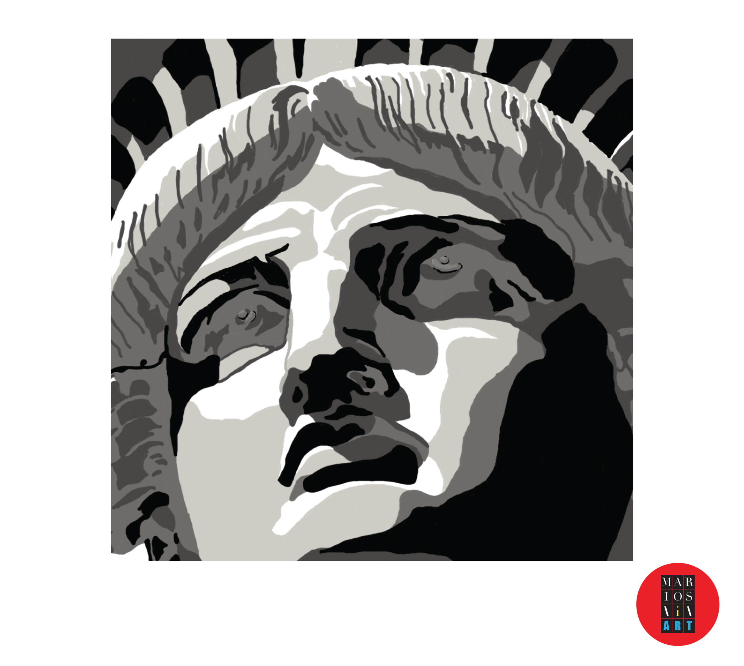 "Close up ""Miss Liberty"""