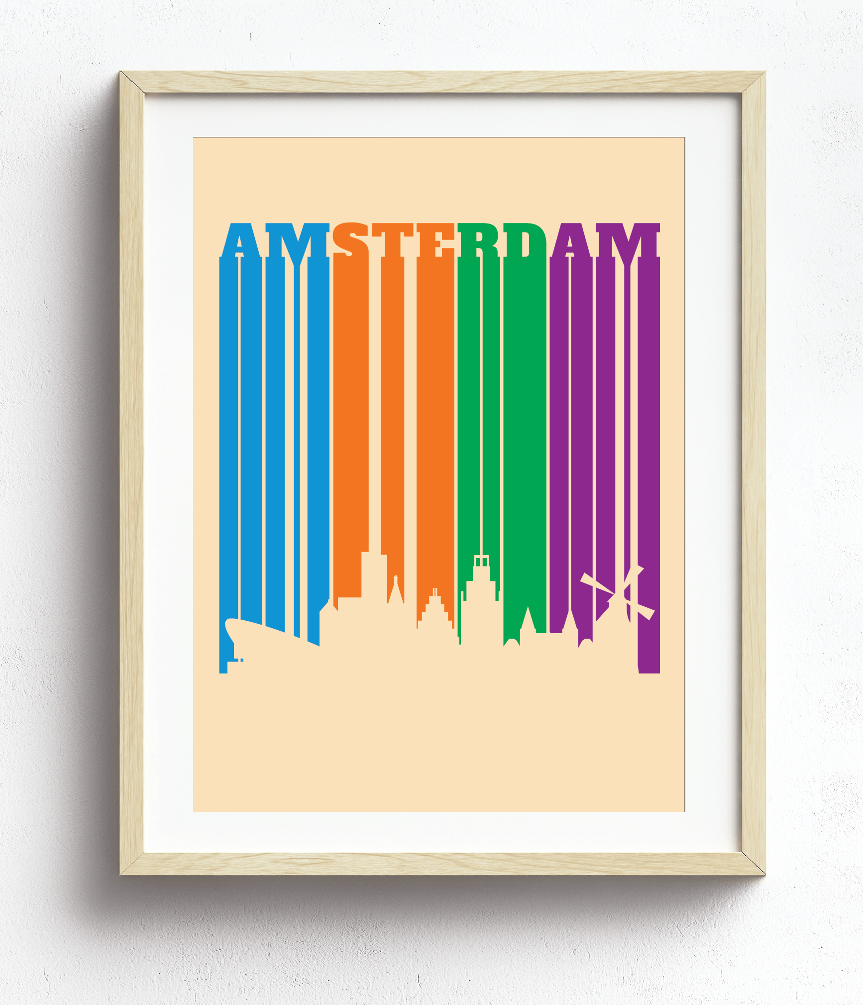 Bold Letters, Bold Colors - Amsterdam City Skylin