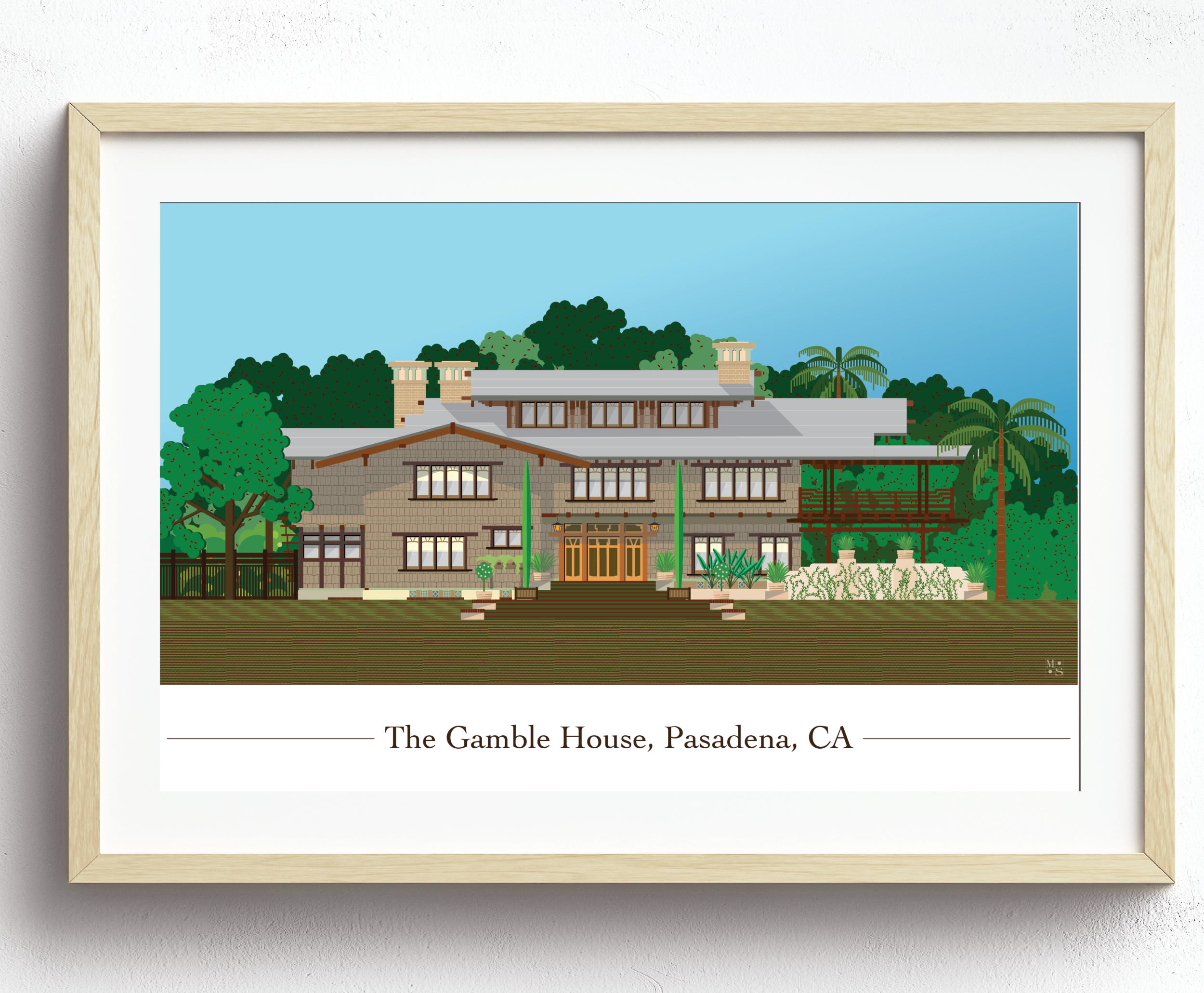 The Gamble House, Pasadena, CA by MarioSiART