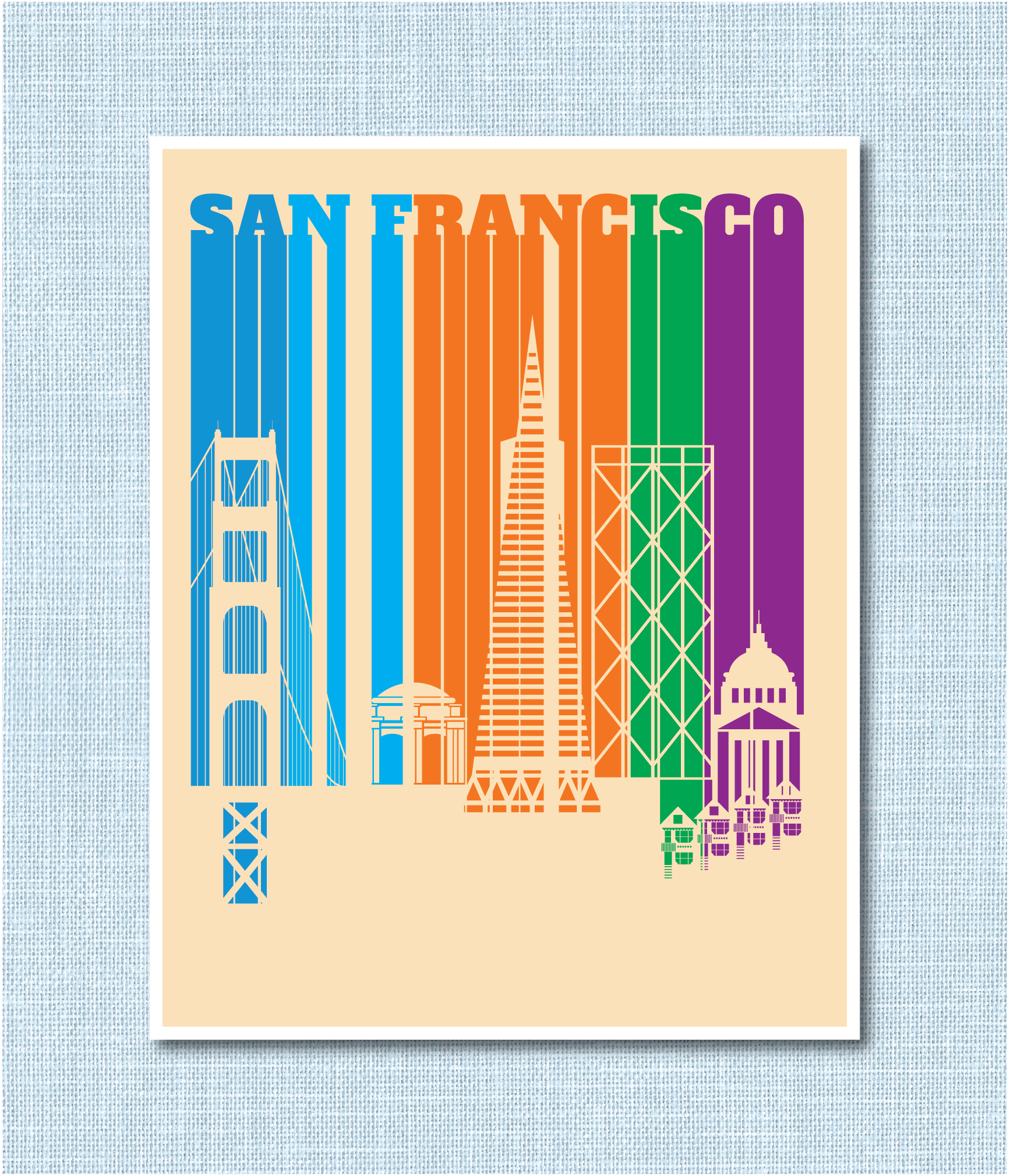 MarioSiART Travel Poster San Francisco
