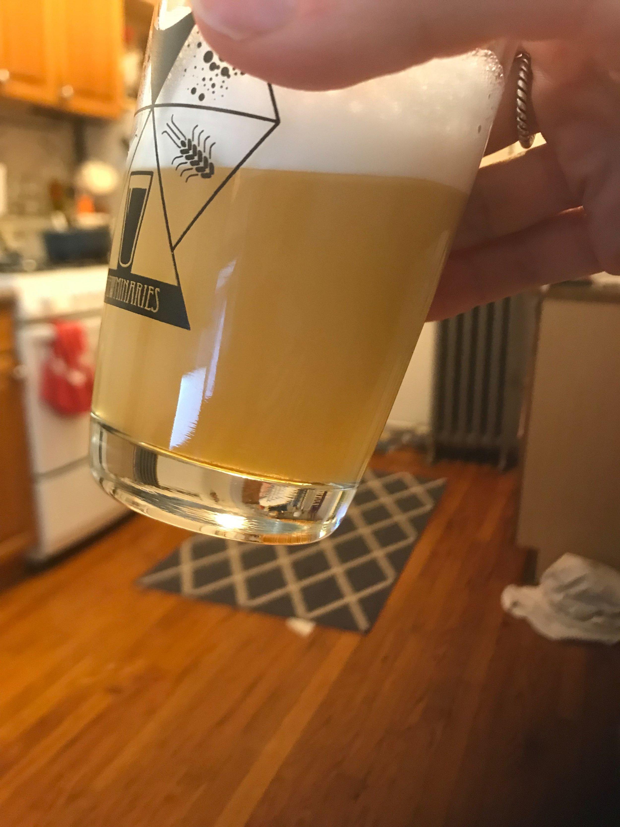 Control beer. Nice haze!
