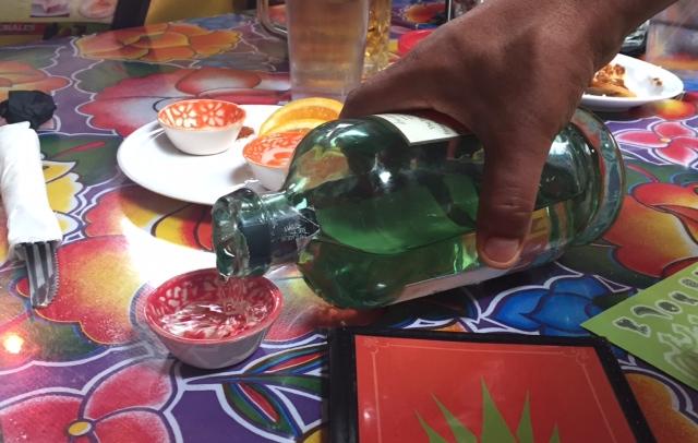 Mezcal sampler, thank god!