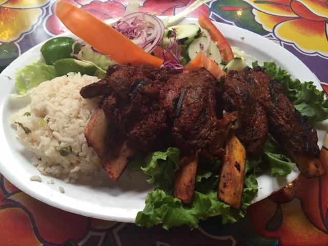 Chile marinated pork ribs, so good!