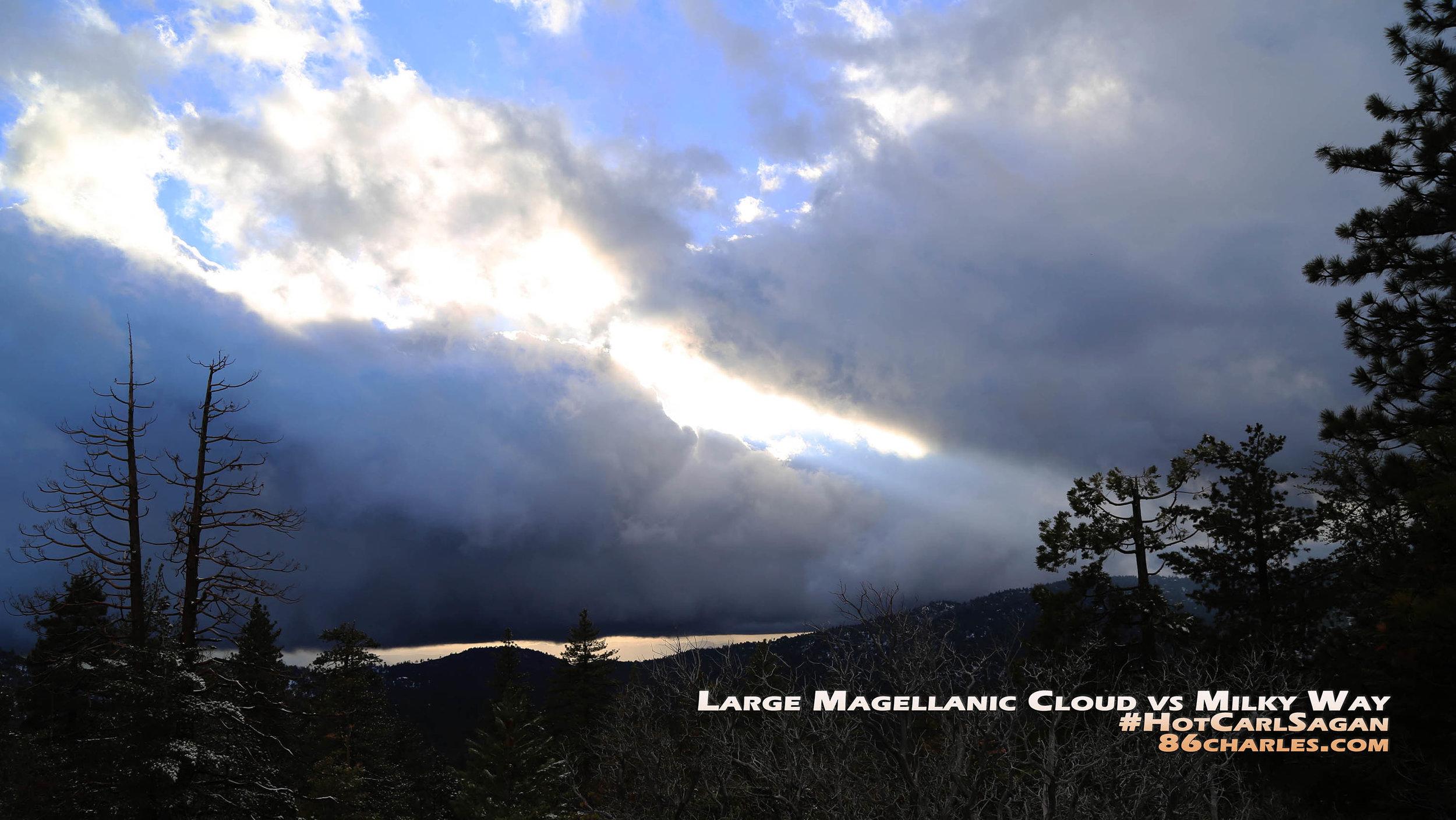 Large Magellanic Cloud vs Milky Way #HotCarlSagan