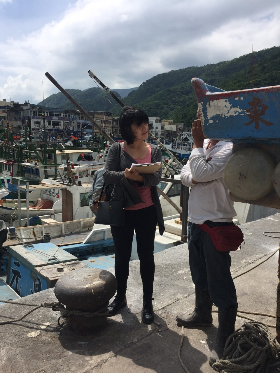 Pei conducts surveys in Taiwan in efforts to understand the perception of threat to fisheries.