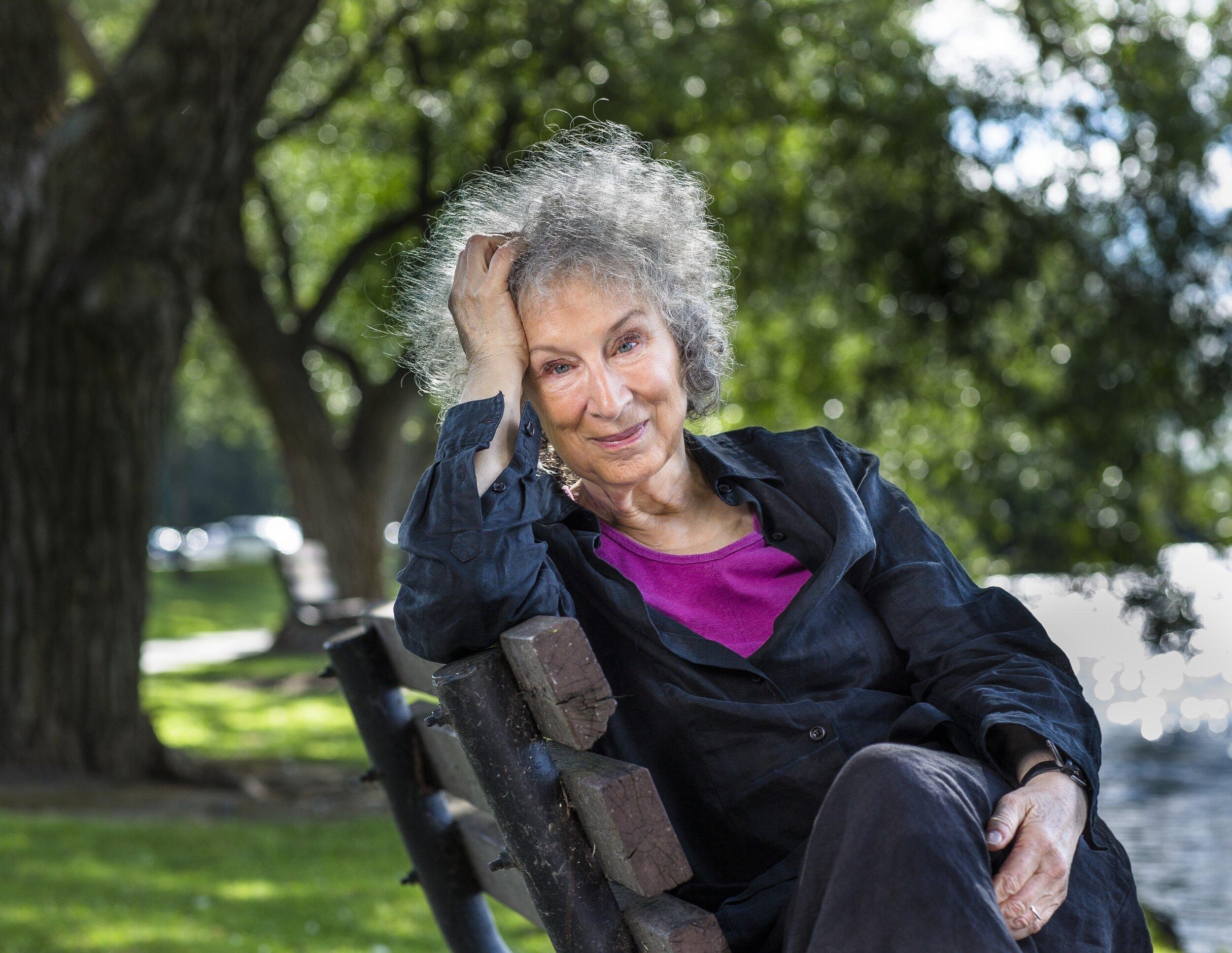 Author Margaret Atwood (photo credit: Liam Sharp)