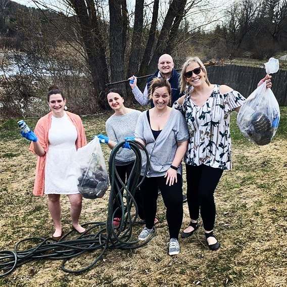A few of our Art Dept. Cleanup Crew! 🌎 Happy Earth Day 🌱