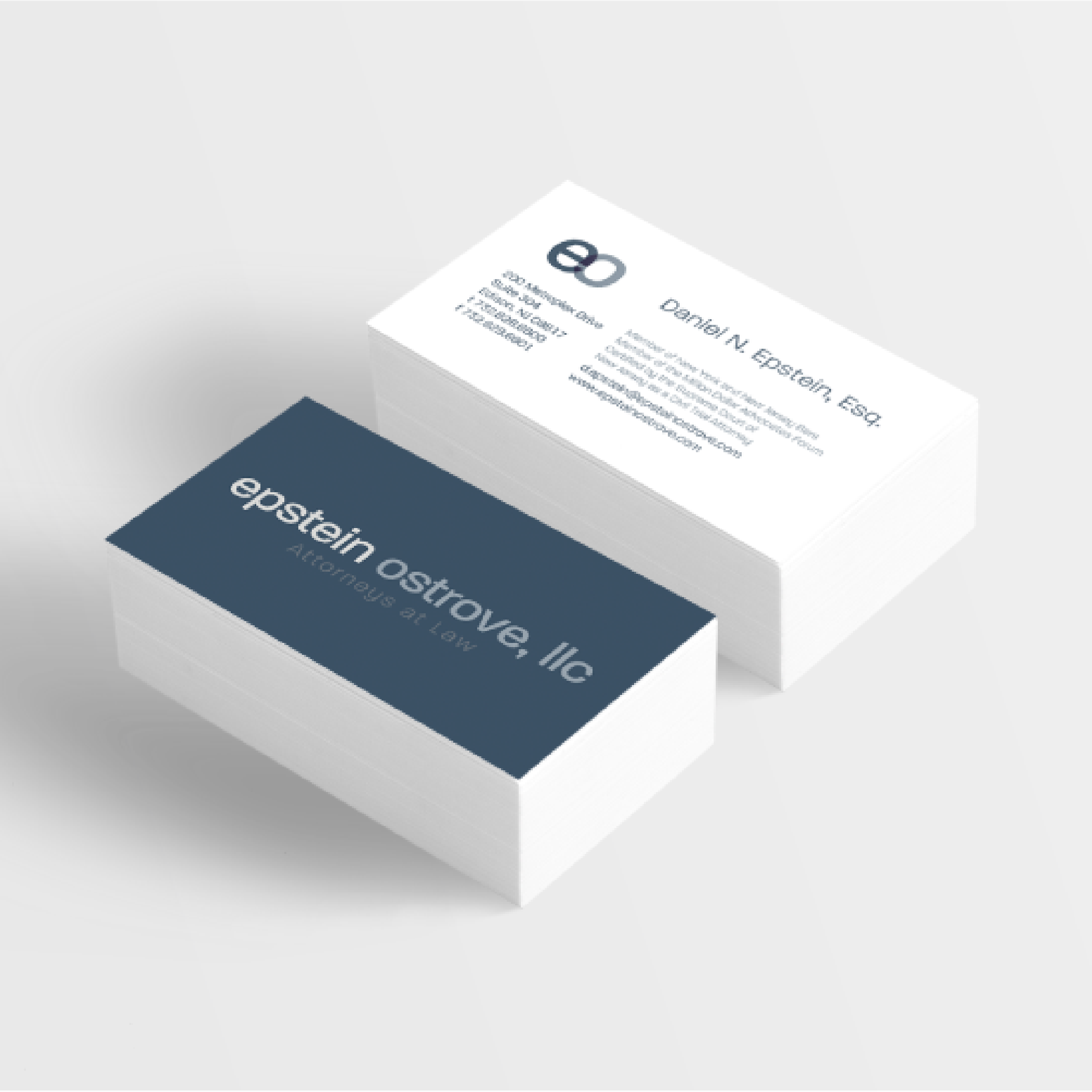 EPstein Ostrove LAW - PROJECTS FOR CLIENT INCLUDE:Logo DesignBusiness Card and Letterhead DesignLobby Sign Design & InstallationCompany Merchandise Design & Production