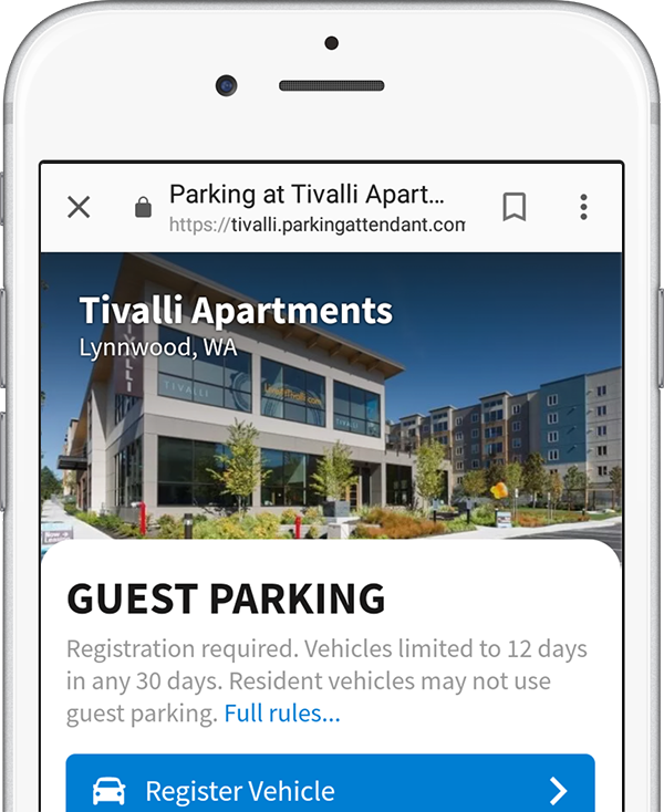 Customized header at Tivalli Apartments