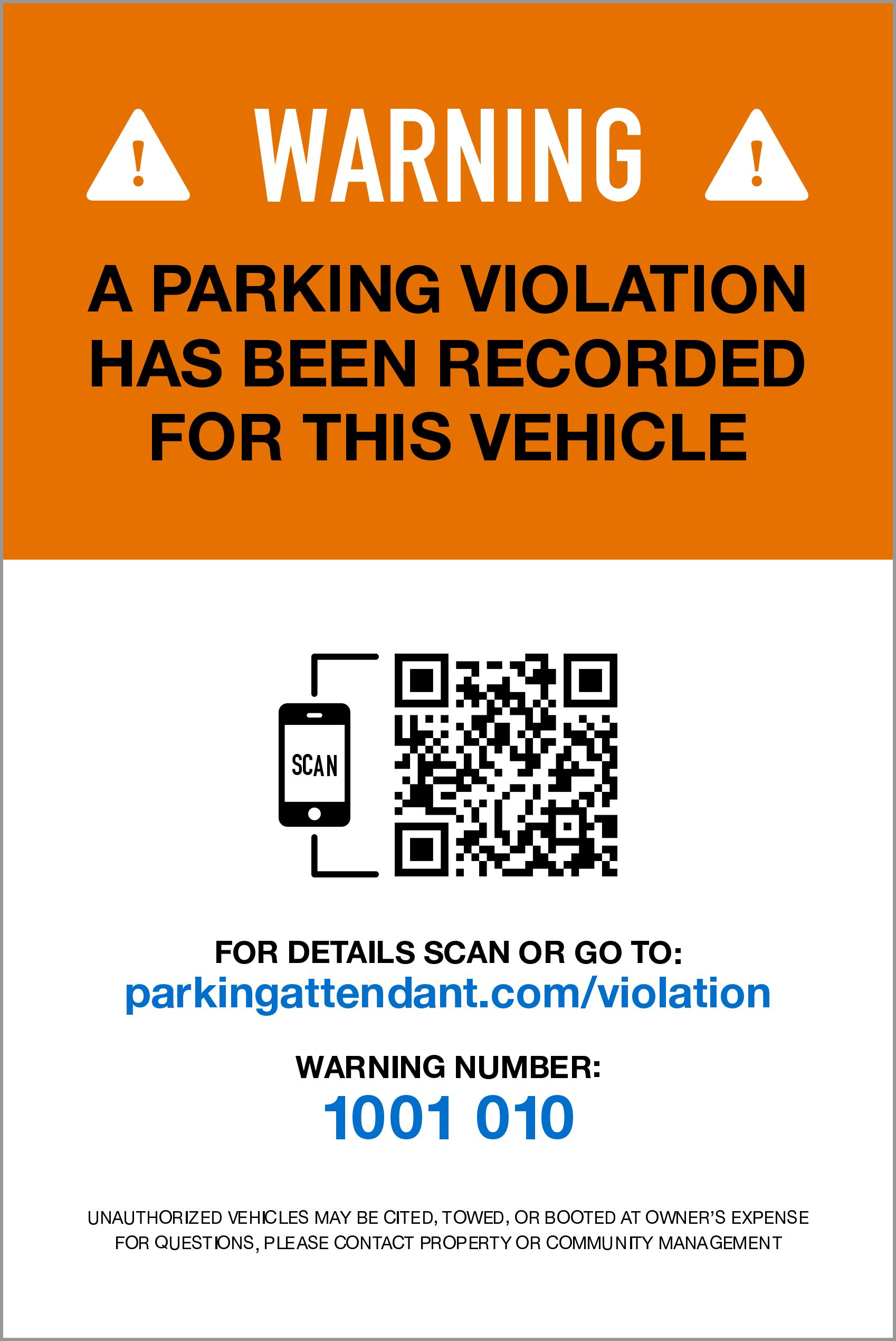 Smart Warning Stickers