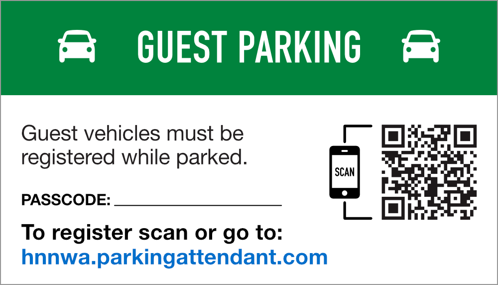 Guest Parking Magnet