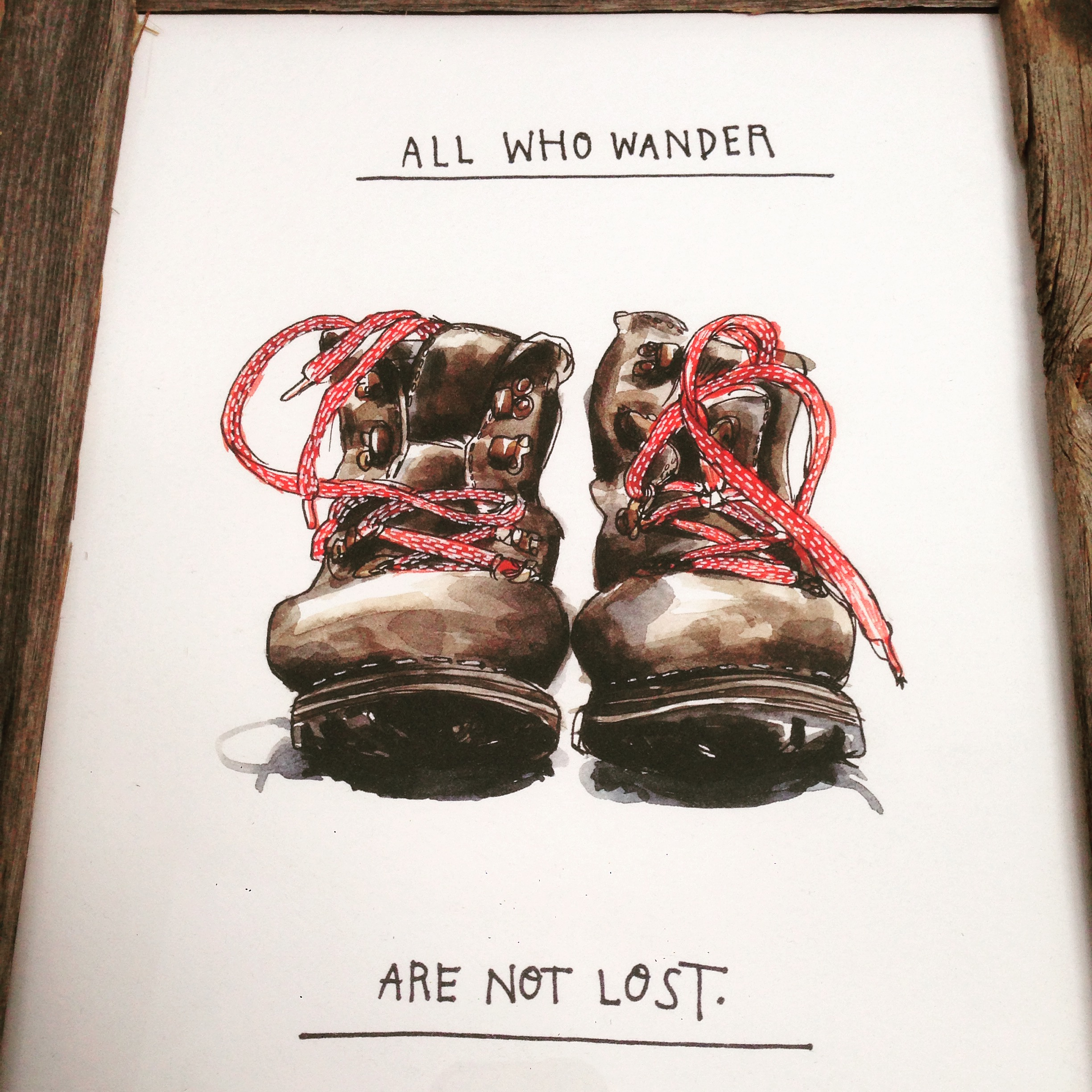 And when you are lost, it is ok to wander. A great wendy macnaughton piece on the walls of basecamp hotel, Tahoe.