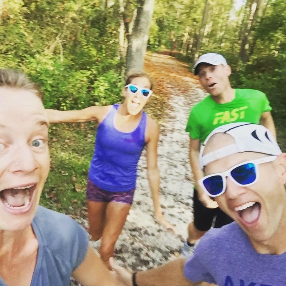 Having fun with Kara Goucher and the Akron Marathon race team!