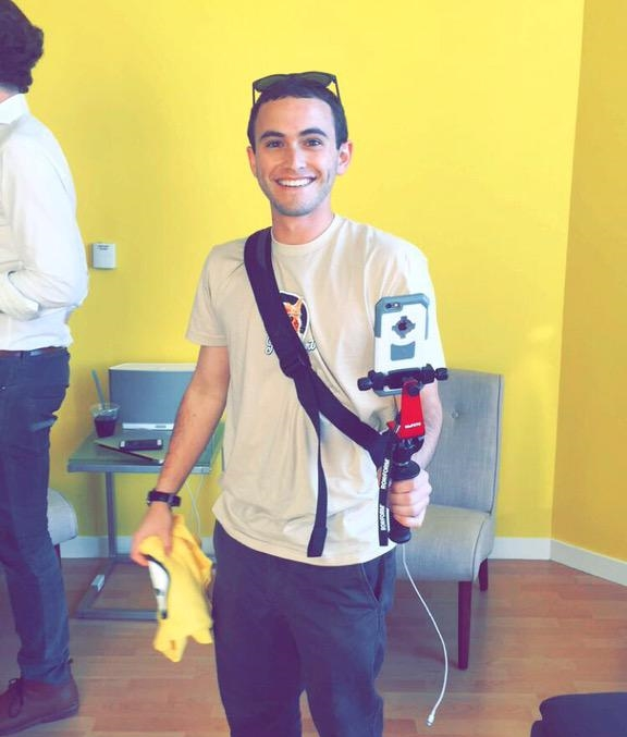 Me on my first visit to the  Meerkat  Office - thanks  Niv !