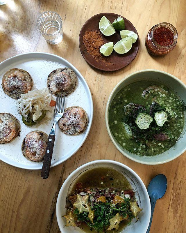 Perfect first lunch in Oaxaca @sirilo_oaxaca with @tjsteele @ninthflr. . . . . #oaxaca #darlingdaily #flashesofdelight #livethelittlethings #nothingisordinary #traveldeeper #culturetrip #gglocalgems @frommers @cntraveler @dametravelerfoodie #mexicanfood #gastronomiamexicana #comidamexicana #aguachiles #oaxacaflavors #mexico #visitoaxaca #suitcasetravels #mydomainetravels #travelandleisure #mytinyatlas @tinyatlasquarterly @mydomaine @bbc_travel @foodandwinees #finedining @theworlds50best @finedininglovers @oaxaca_flavors #bestfood @bestfood_aroundtheworld