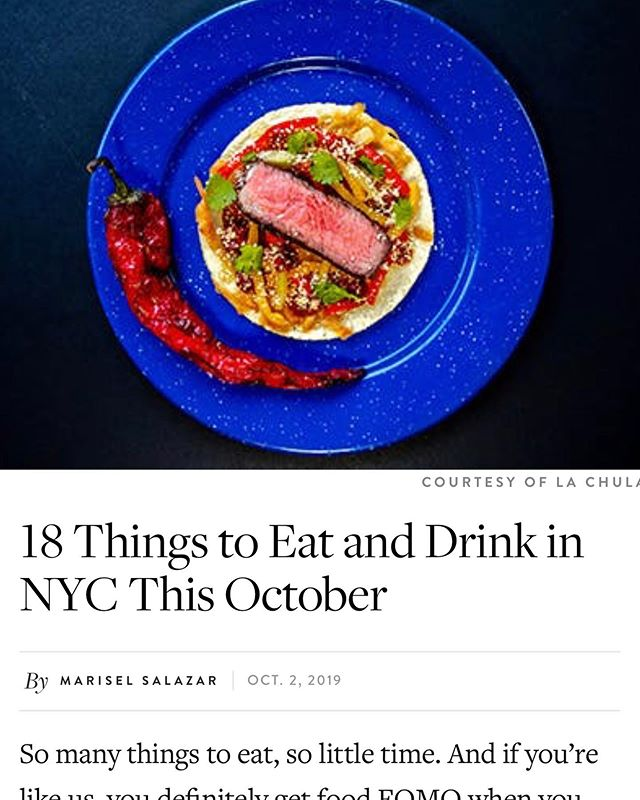 Taco omakase. Breakfast ice cream. Israeli bento boxes. My latest for @PureWow on everything you should be eating and drinking right now in October (sorry for the late shout out, still time to get lots of these!). Link in profile and below:  https://www.purewow.com/food/what-to-eat-in-nyc . . . . . #eeeeeats #instafood #foodstagram #foodie #f52grams #buzzfeedfood #feedfeed #eater @eater #foodpic #foodspotting #pizza @lefooding #forkyeah #foodporn #foodphotography #seriouseats #foodgram #grubstreet #buzzfeast #nyceats #nycdining #eatingnyc #nyc #eaterny #hautecuisine #chefsofinstagram @dametravelerfoodie #dametraveler @cntraveler @fodorstravel @chowhound @grubstreet @foodandwine @travelandleisure #travel #traveltips #purewow @lachula_nyc @lukeslobster @delmonicosnyc @chefwolfgangpuck @cutnewyorkcity @blackseedbagels @miznon_nyc @flipsigi @fork_knife @vanleeuwenicecream @misterparadisenyc  @greatnorthernfood @magichourny @pigbeachnyc @cityharvestnyc @lamalonyc @gertienyc @nycwff  @legaseany @highstnyc @rawwineworld