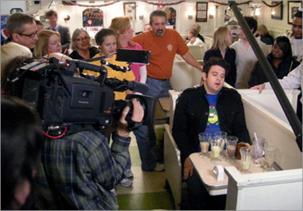 Adam Richardson rocking a CICF Shirt on Man vs. Food