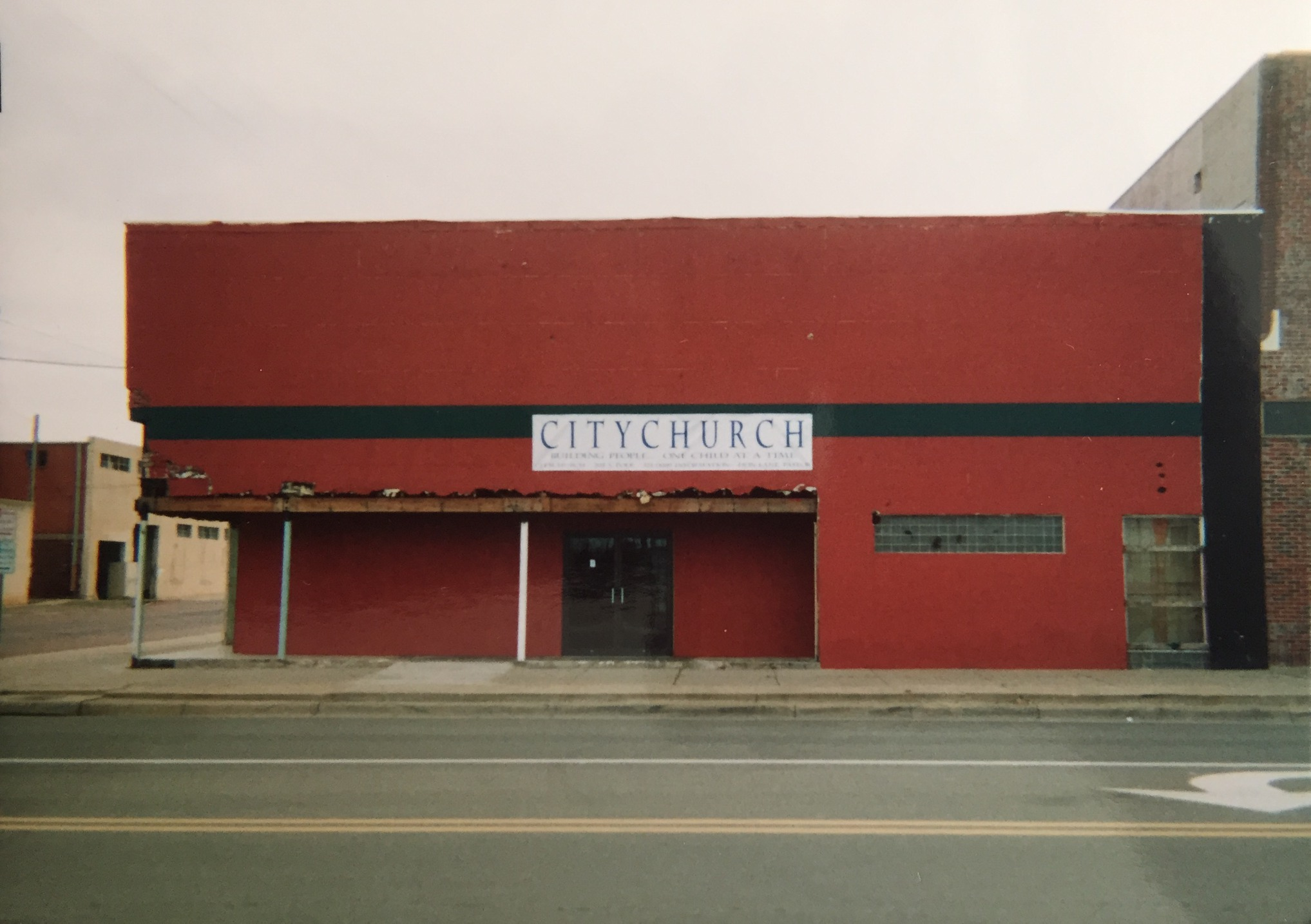An early picture of the adjacent building that was added to our first Citychurch building.
