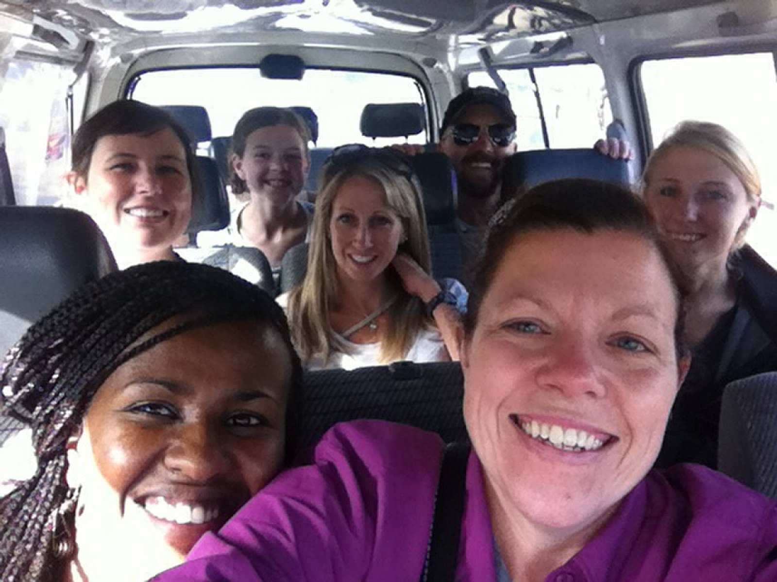 Van selfie with Shelly on our first trip to Ethiopia.