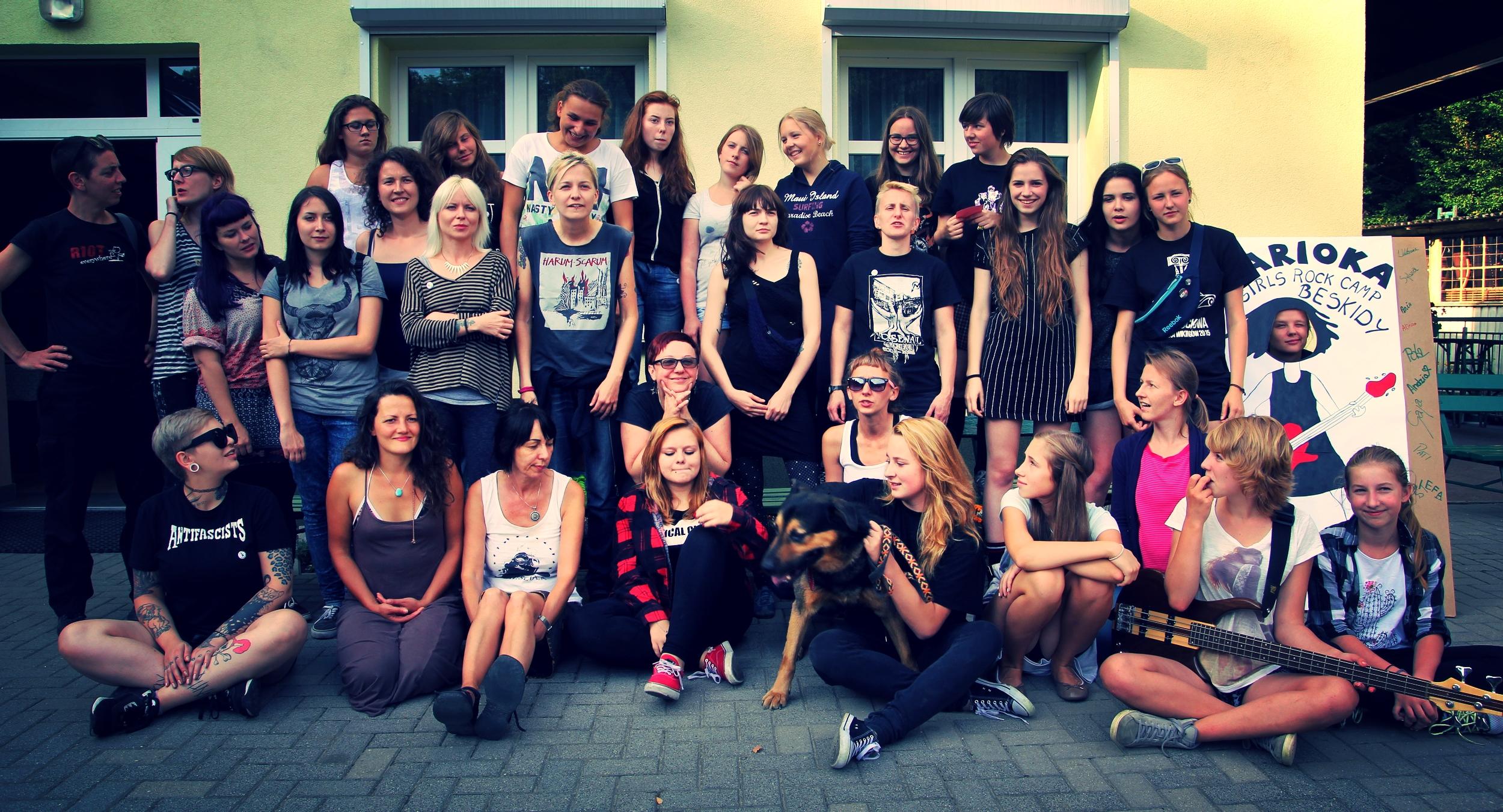 Sjálfboðaliðahópur Karioka Girls Rock Camp