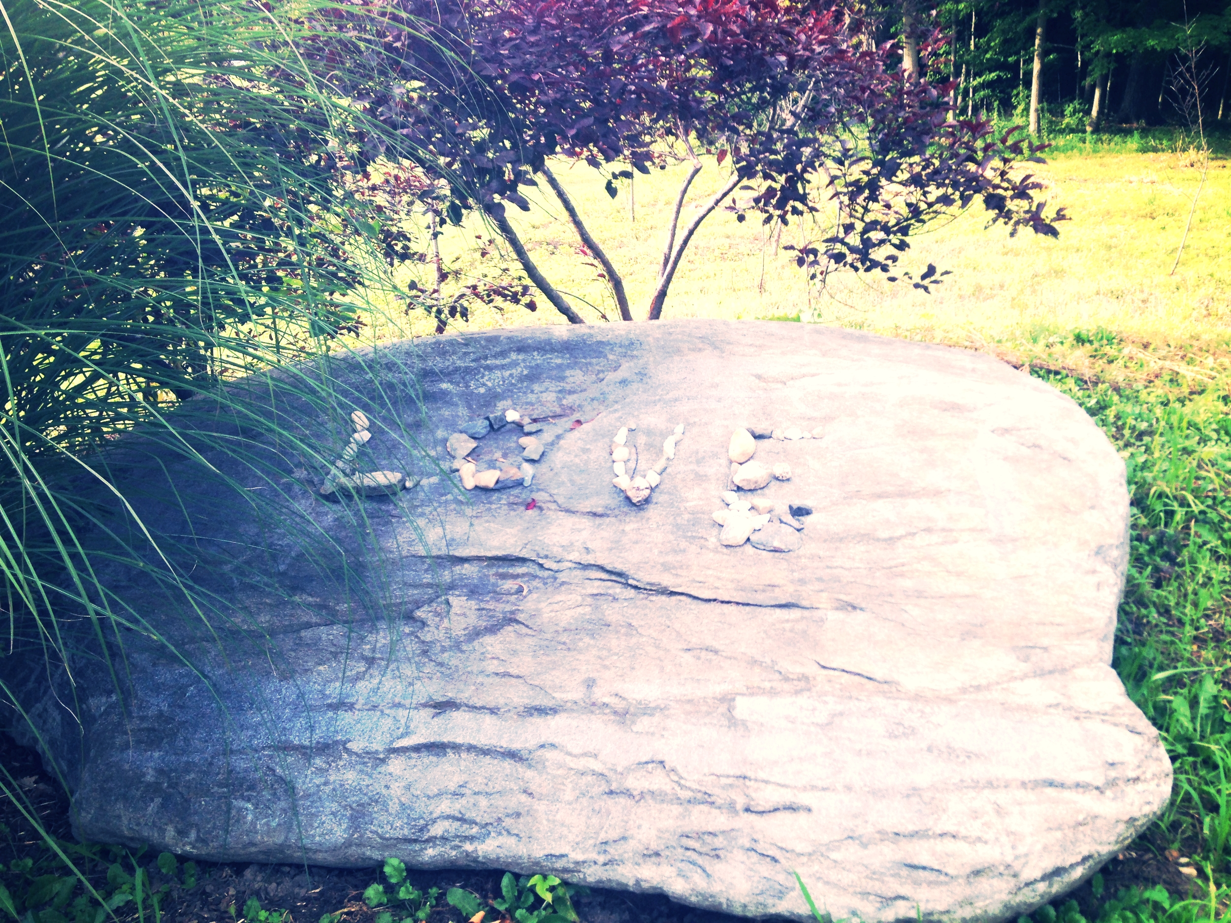 The LOVE rock at Kripalu