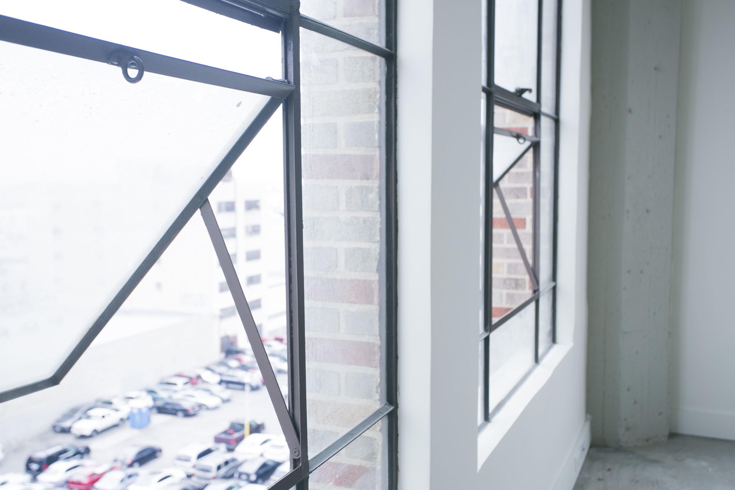 Historic Windows at Garment Lofts