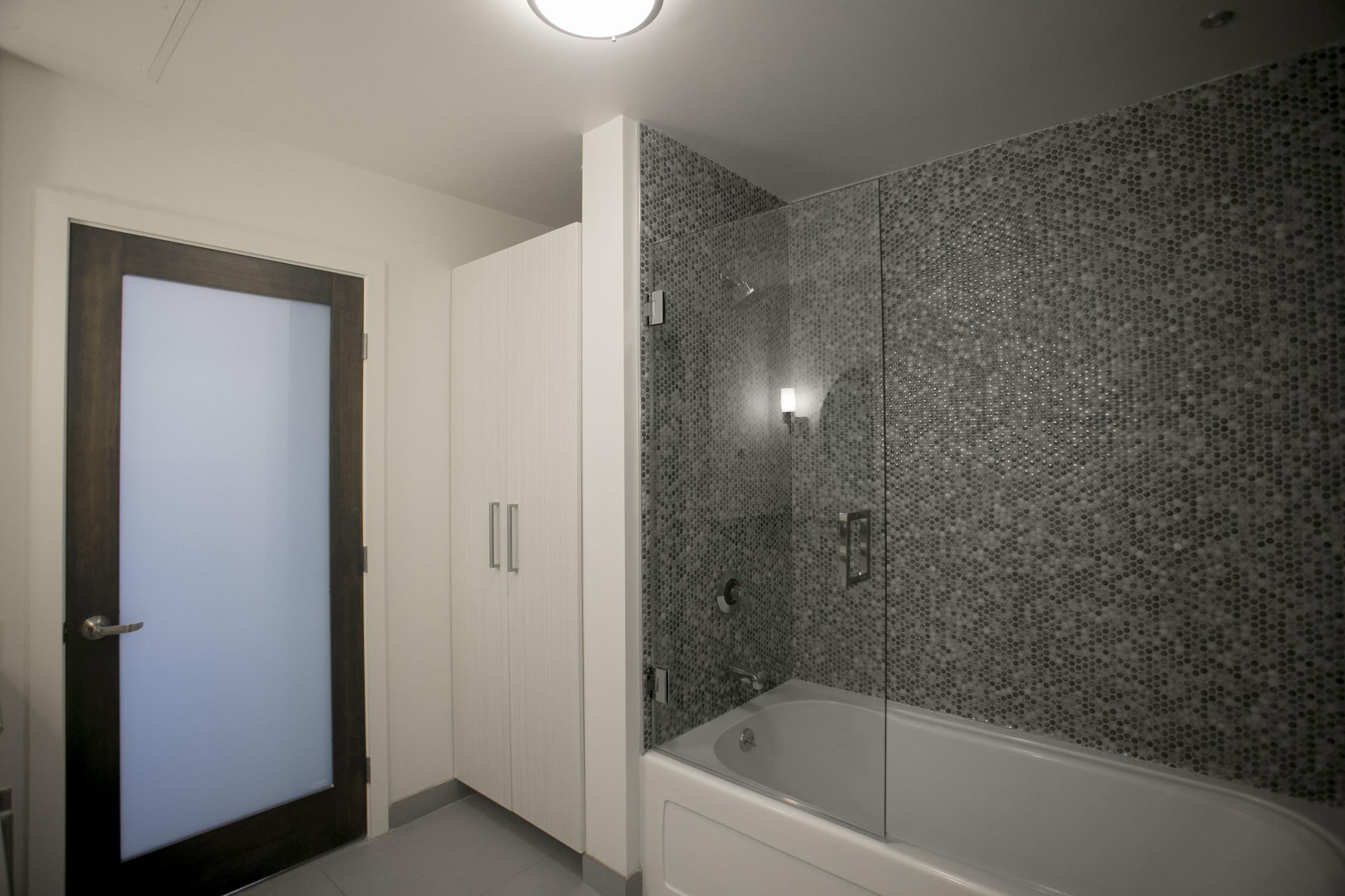 Shower Enclosure at Garment Lofts
