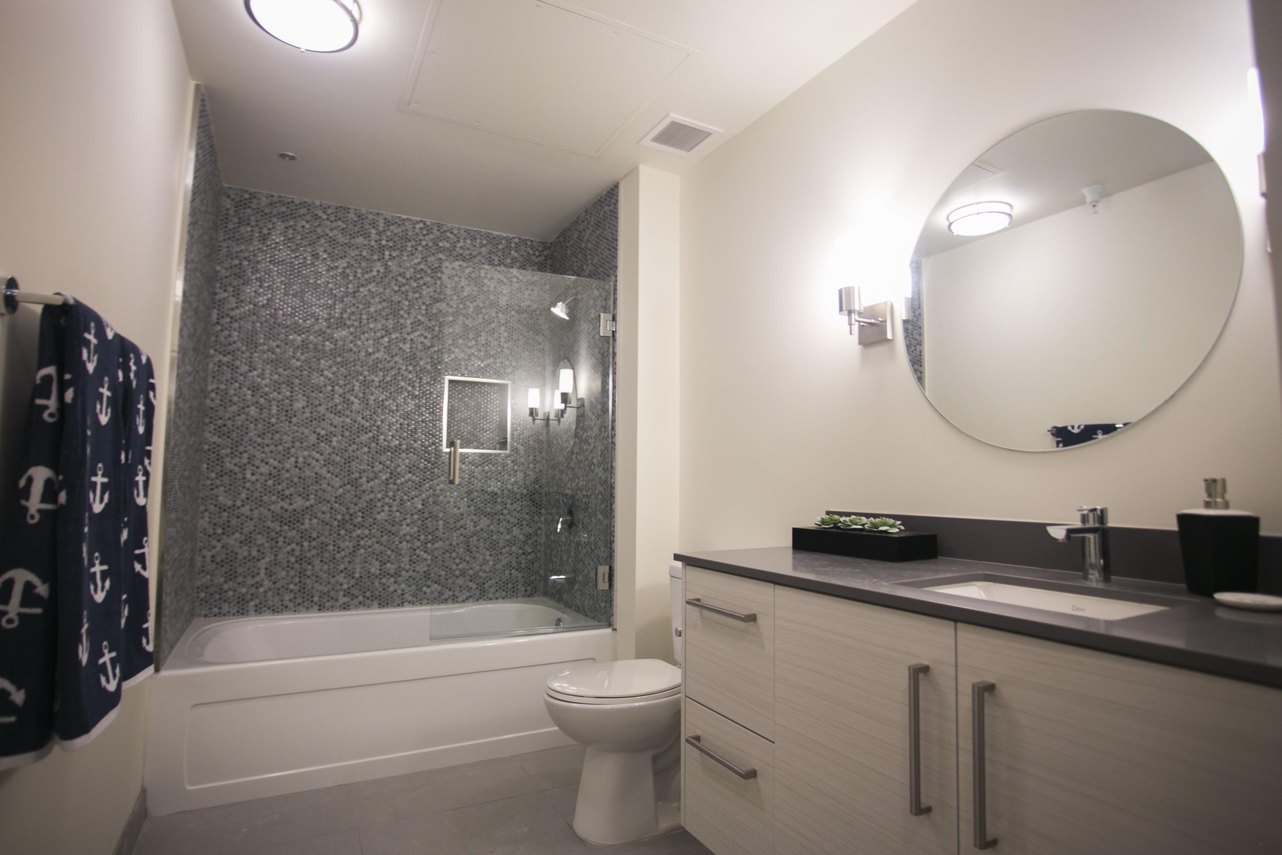 Bathroom at Garment Lofts