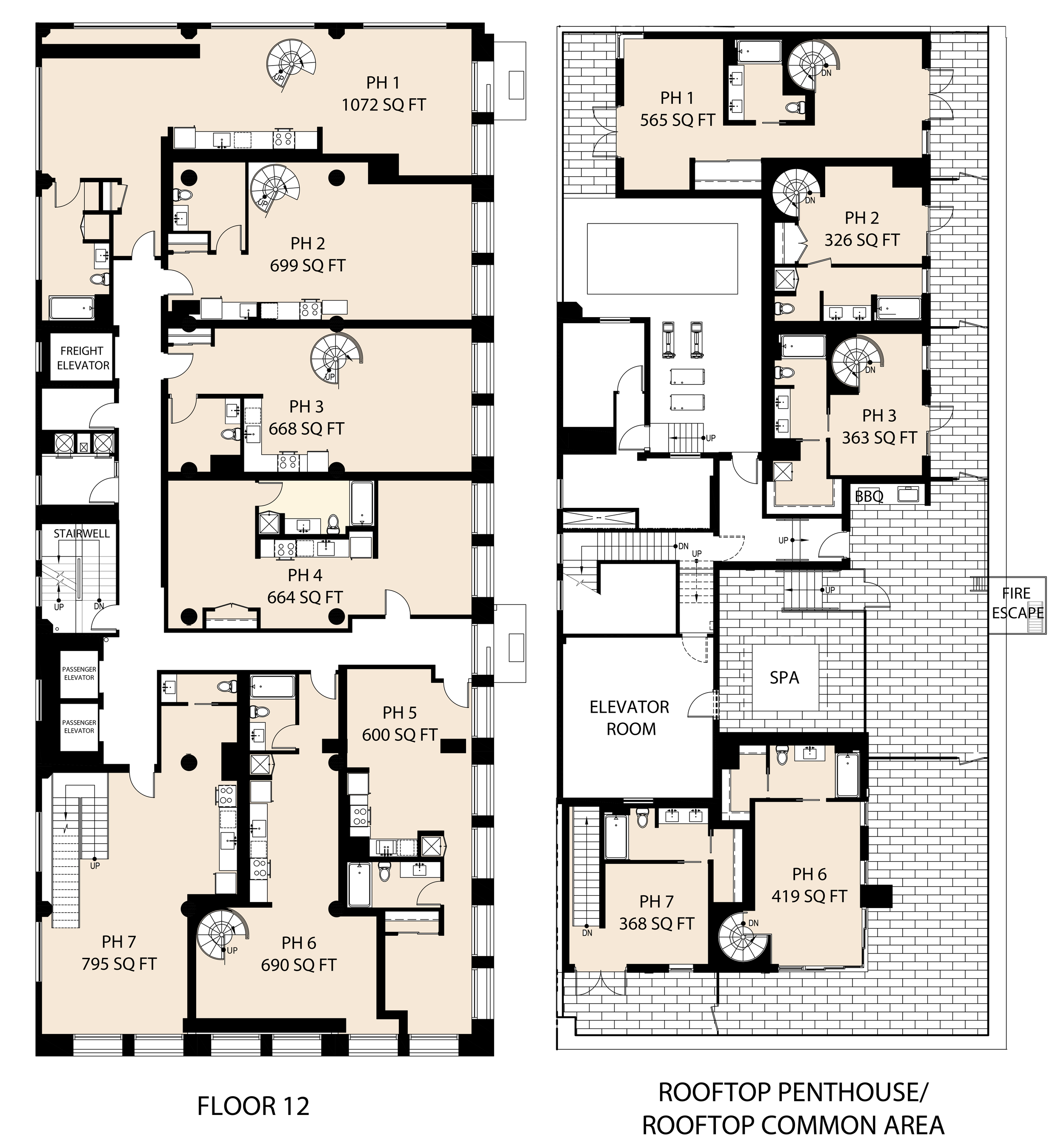 Floor Plans 8th Street Project 12th story penthouse