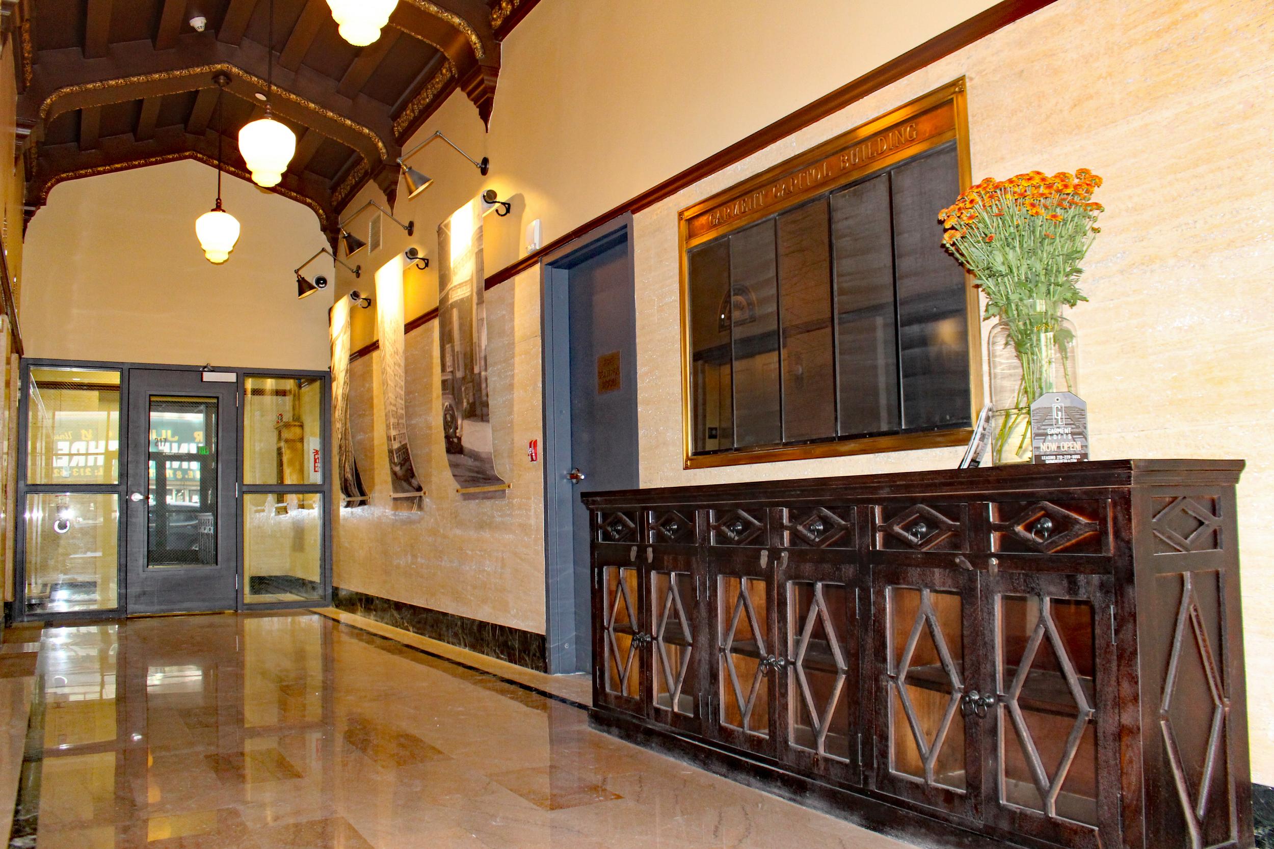 Entrance at Garment Lofts