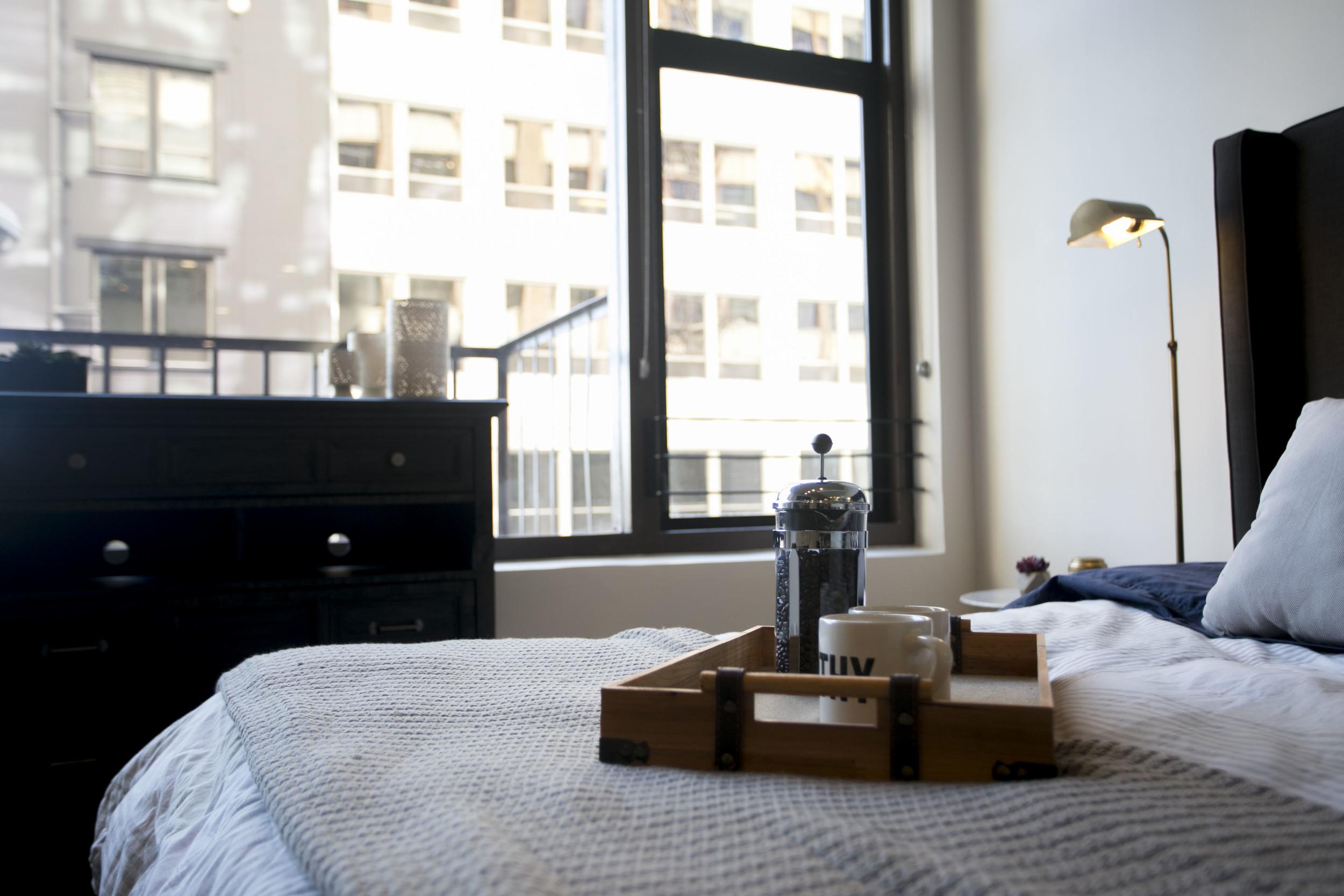 Bedroom at Garment Lofts