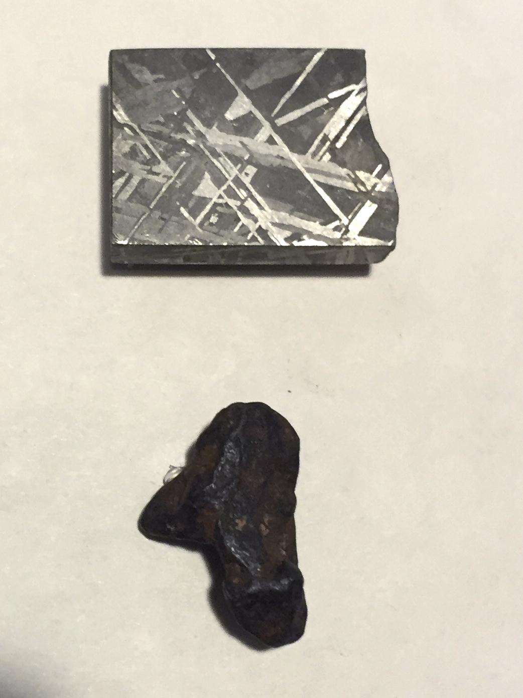 Iron meteorite - one cross-section cut