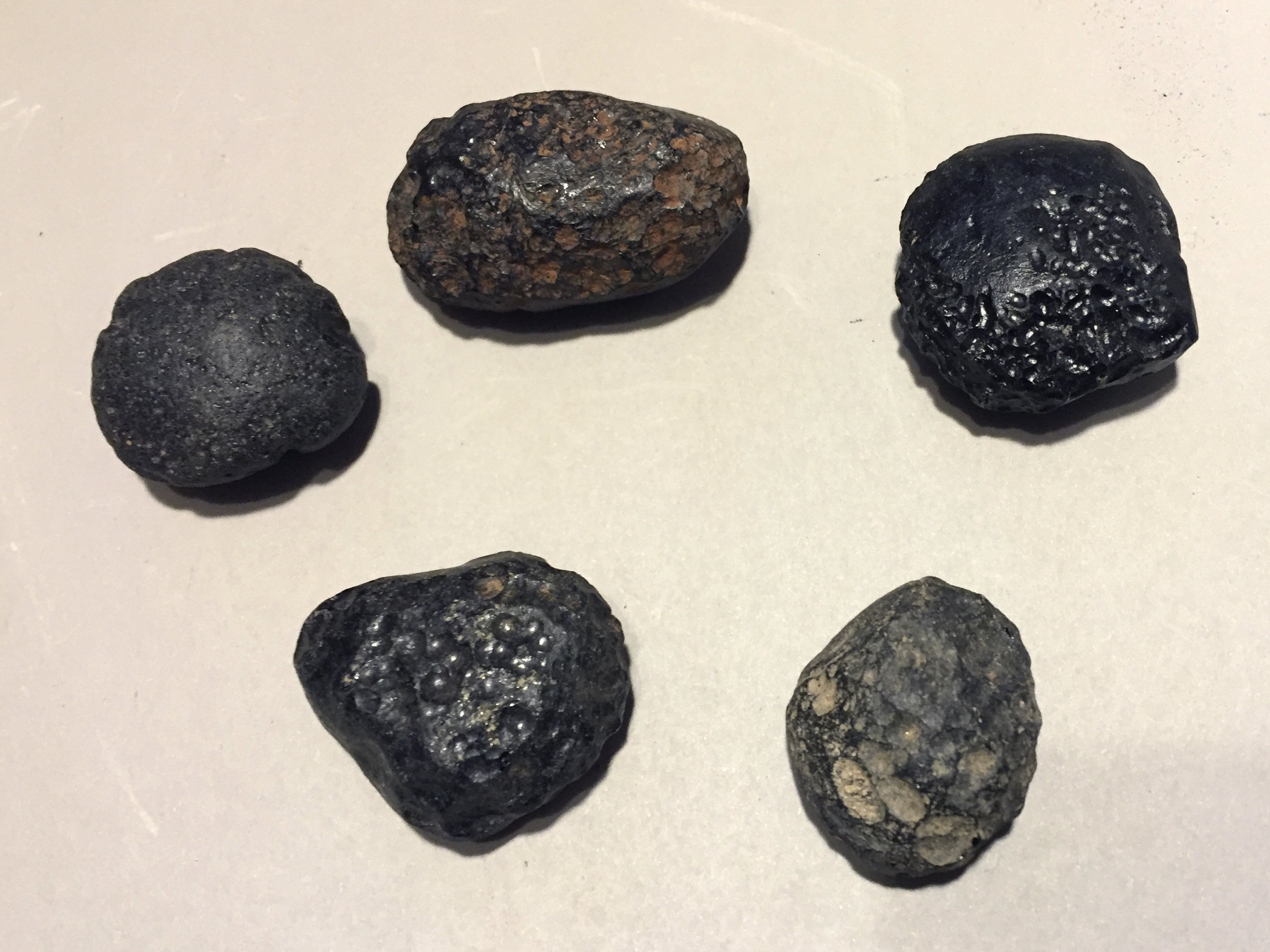 Malaysian tektite -believed to have been formed as molten debris from meteorite impacts